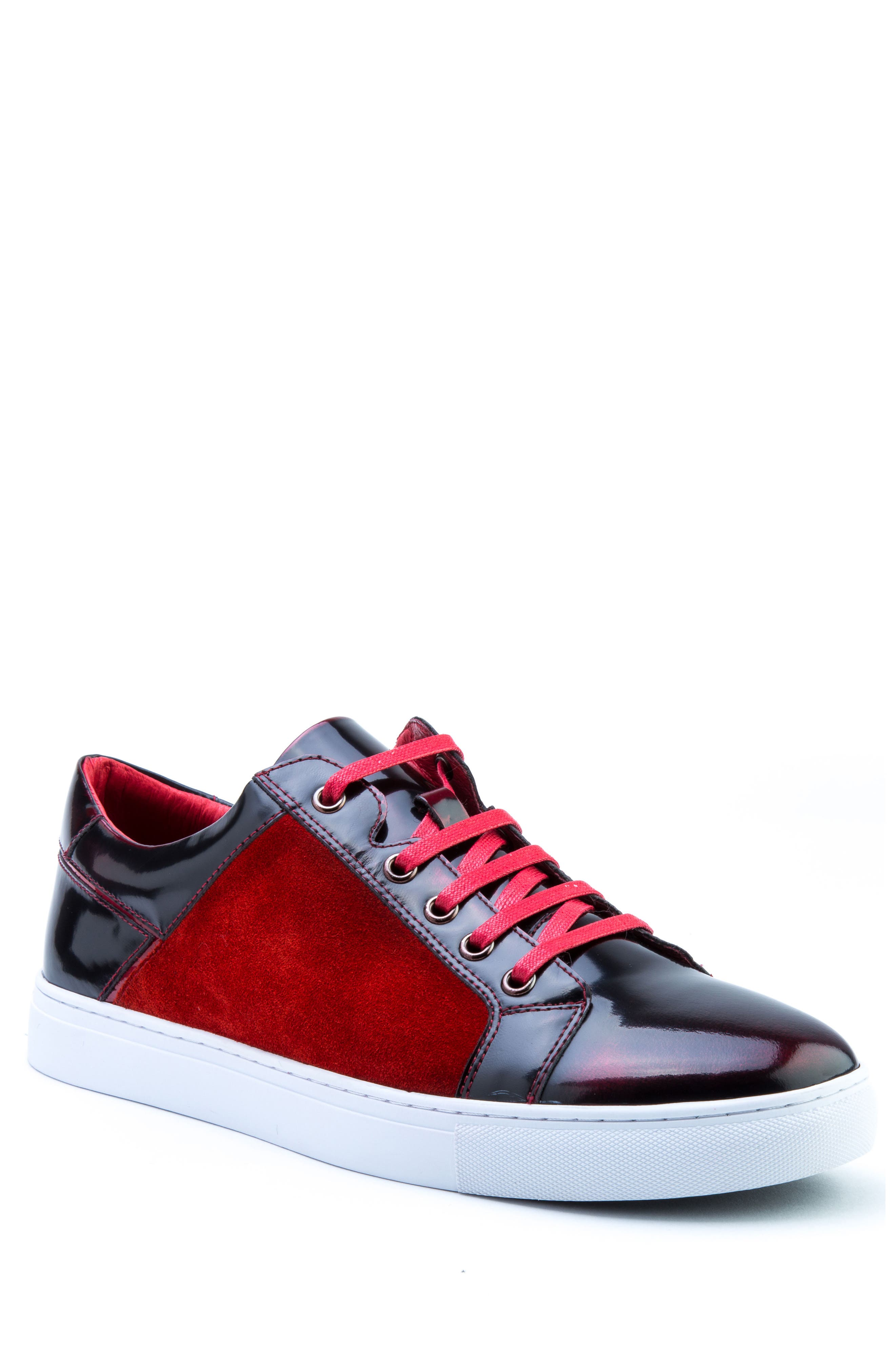 Lockhart Sneaker,                         Main,                         color, Red Leather