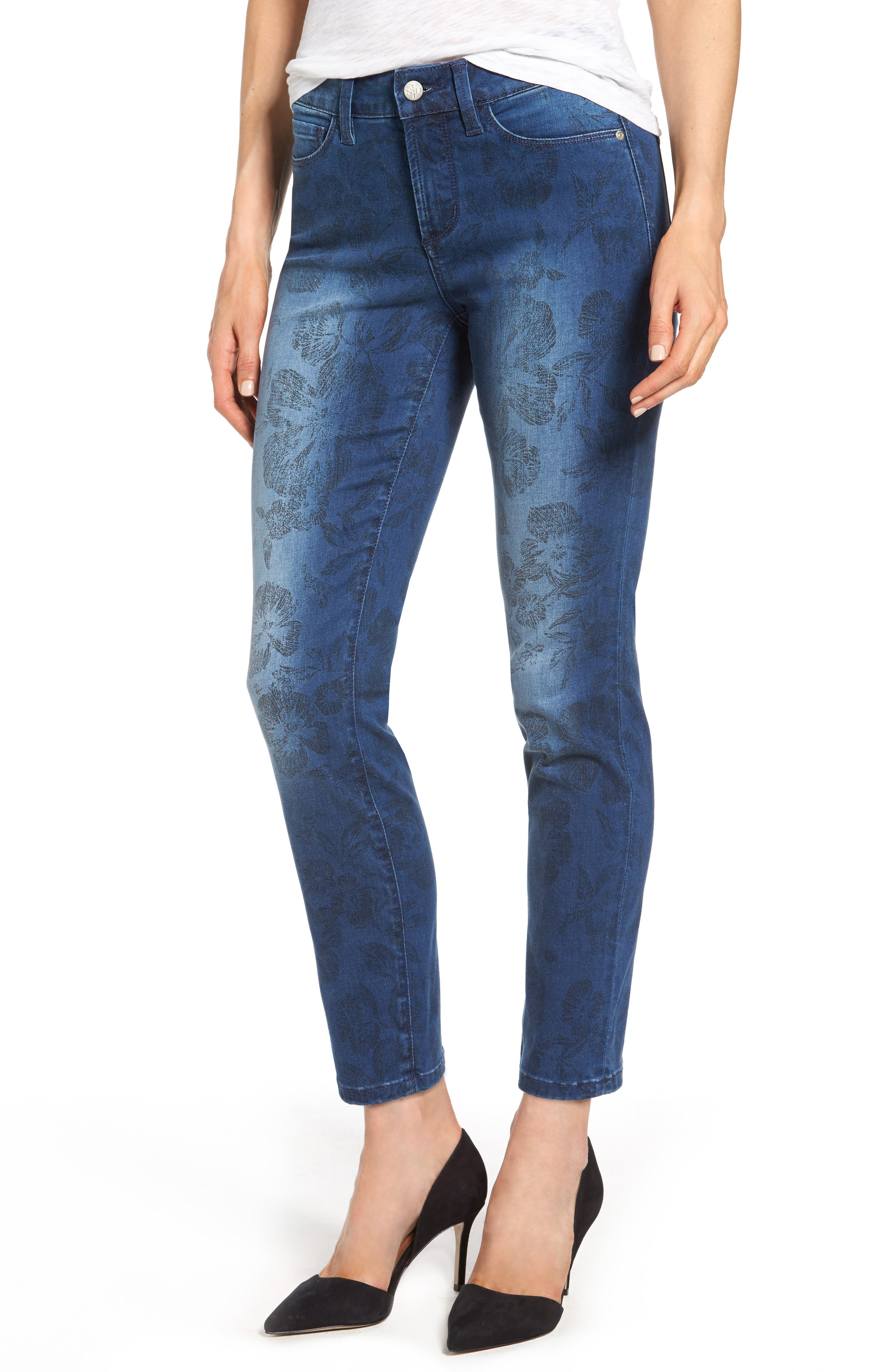 Alina Print Slim Ankle Jeans,                             Main thumbnail 1, color,                             Print