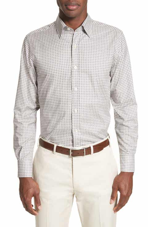 Canali Men's Casual Button-Down Shirts Clothing & Suits | Nordstrom