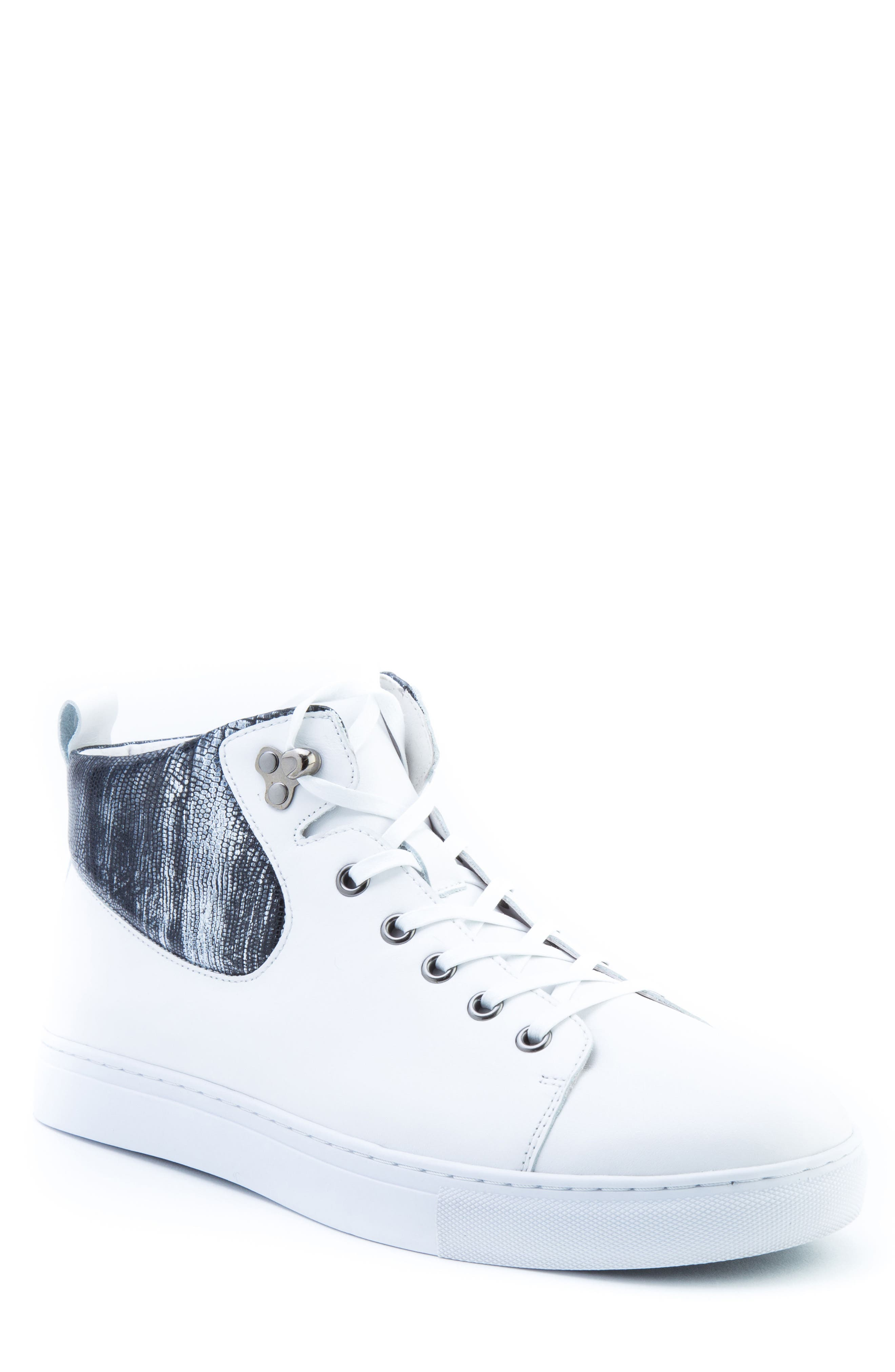 Carroll Sneaker,                         Main,                         color, White Leather
