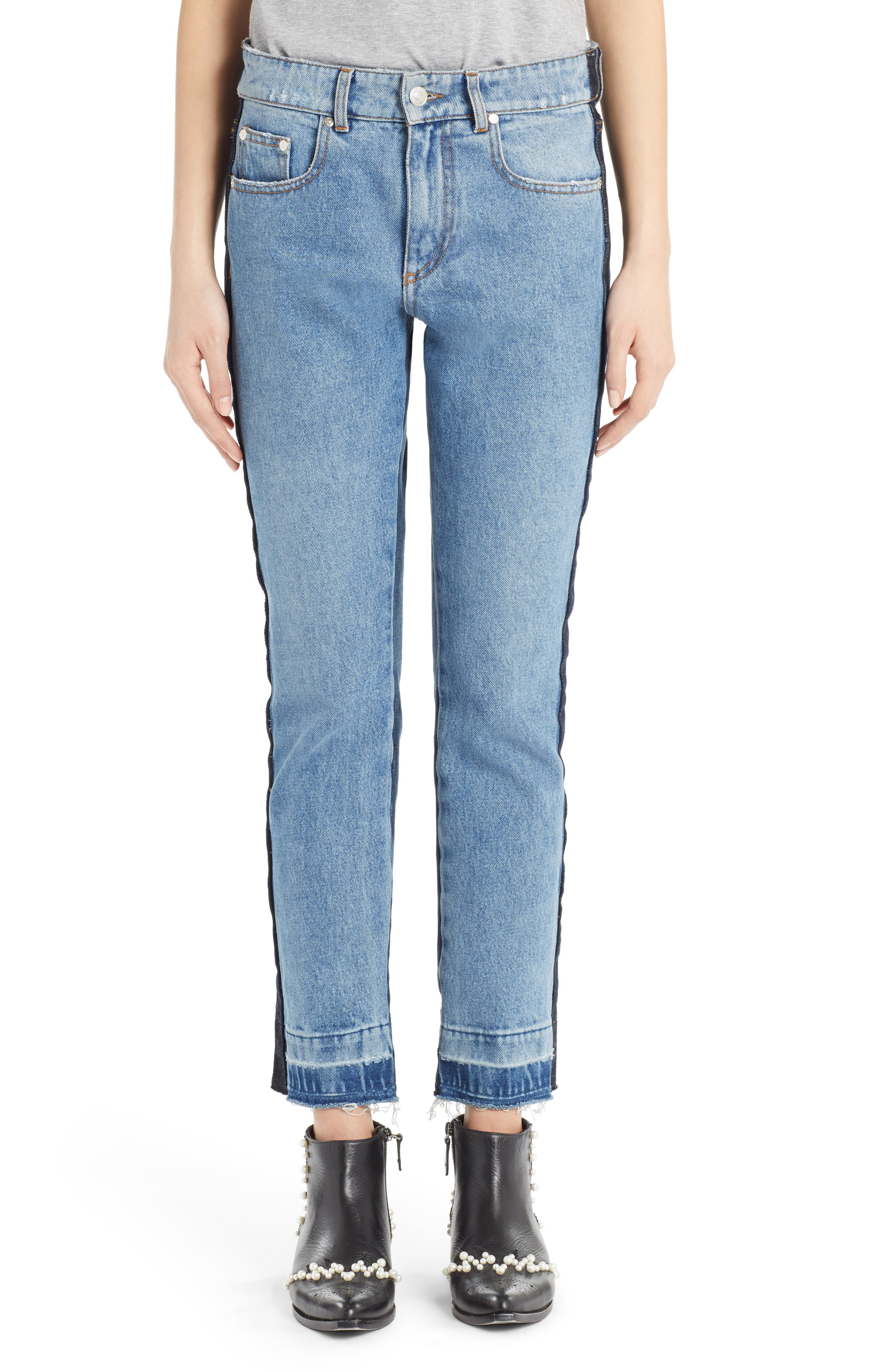 Paneled Jeans,                         Main,                         color, Multi Washed
