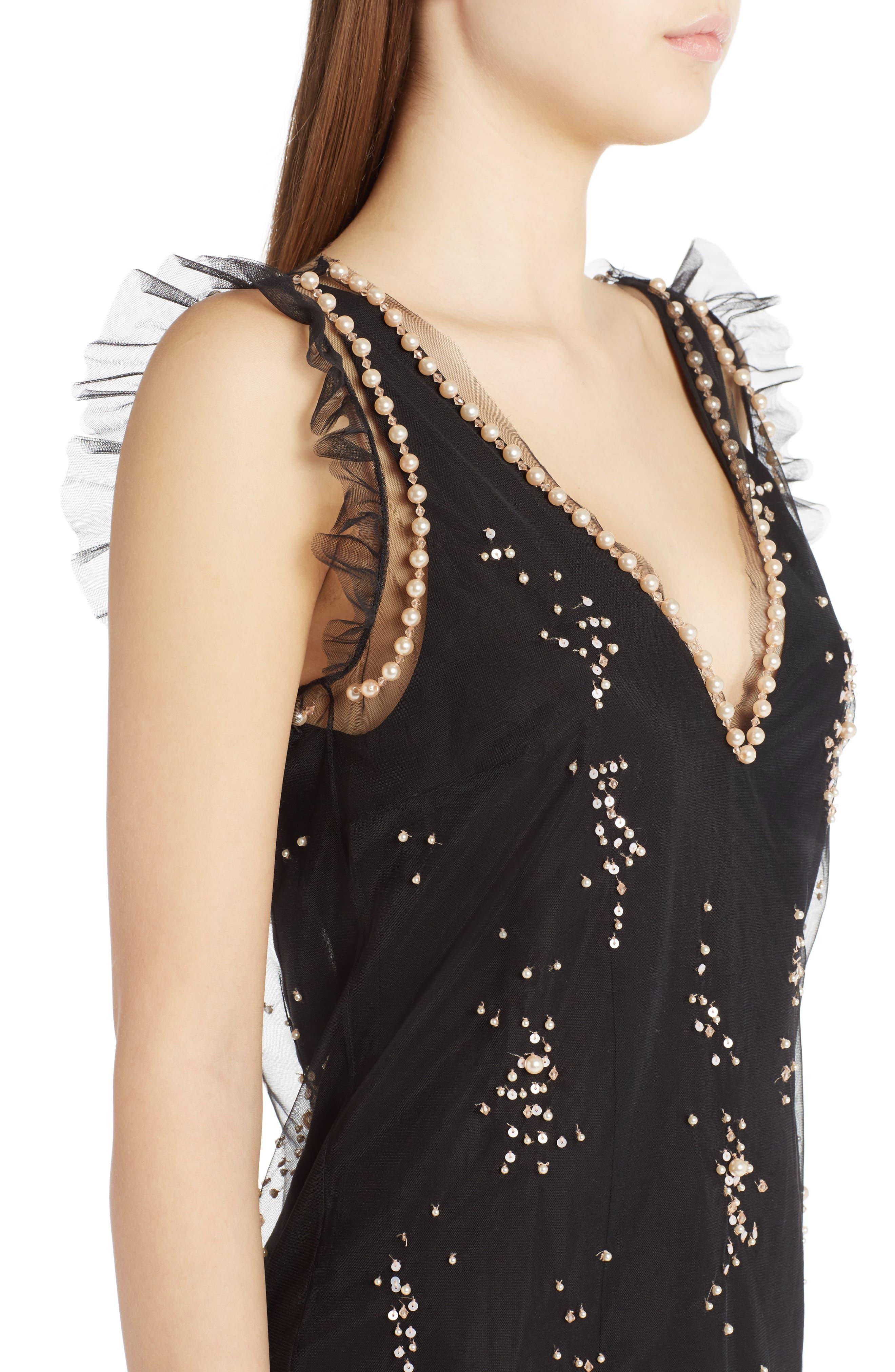 Alternate Image 4  - MSGM Imitation Pearl Embellished Tulle Dress