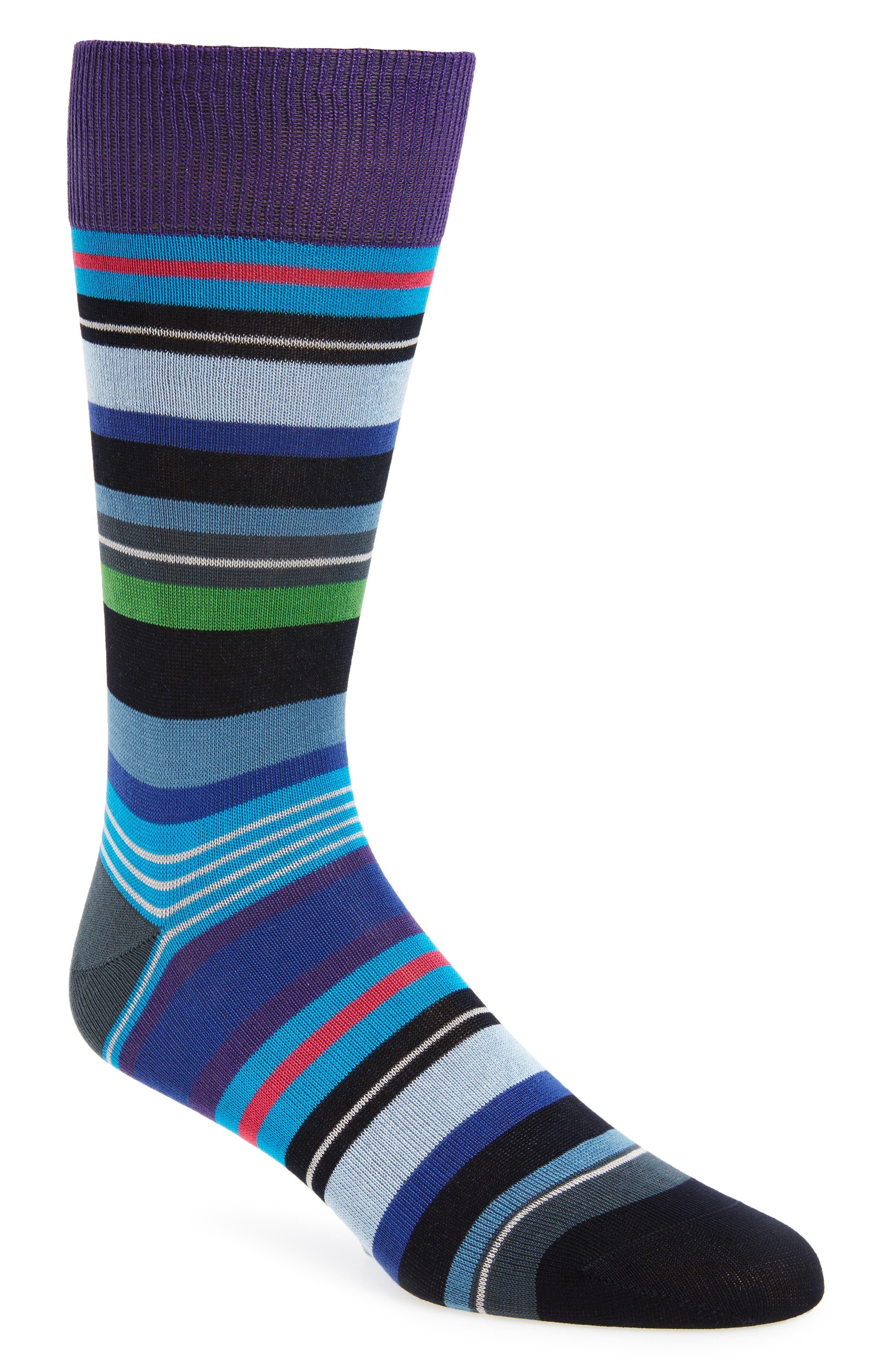 Halentoe Stripe Socks,                         Main,                         color, Blue