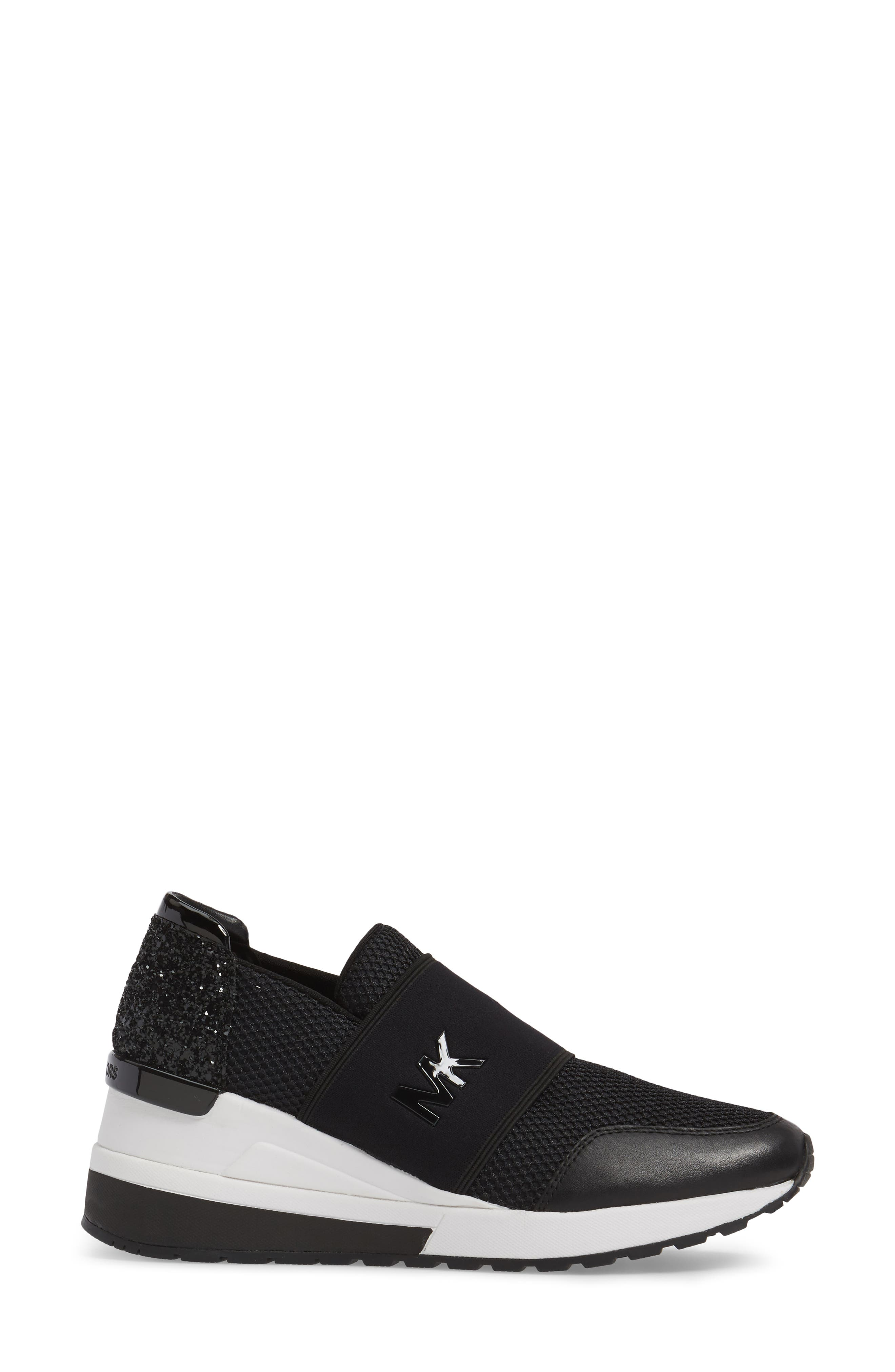 Alternate Image 3  - MICHAEL Michael Kors Felix Slip-On Glitter Sneaker (Women)
