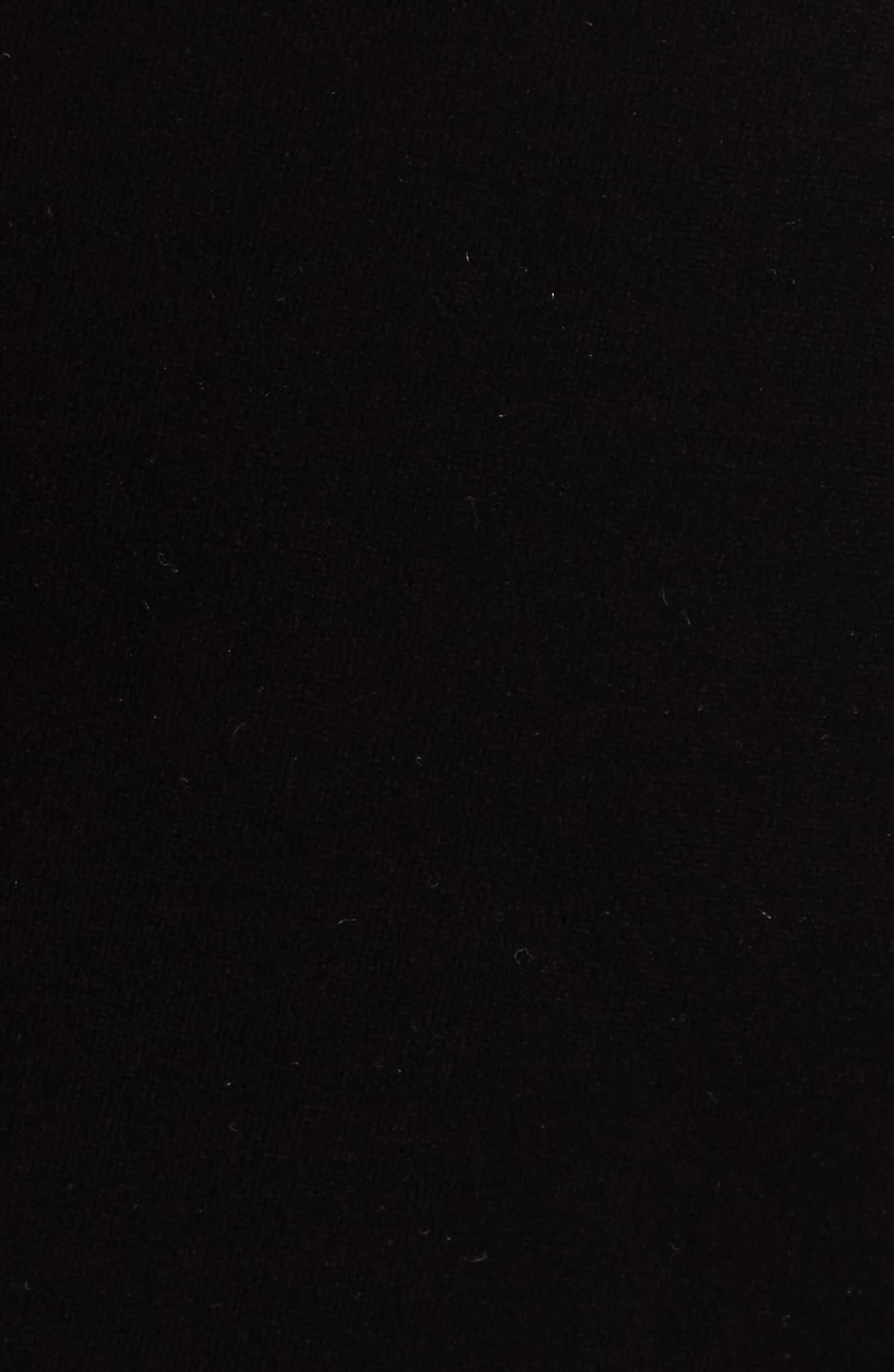 Velvet Column Gown,                             Alternate thumbnail 6, color,                             Moonlight