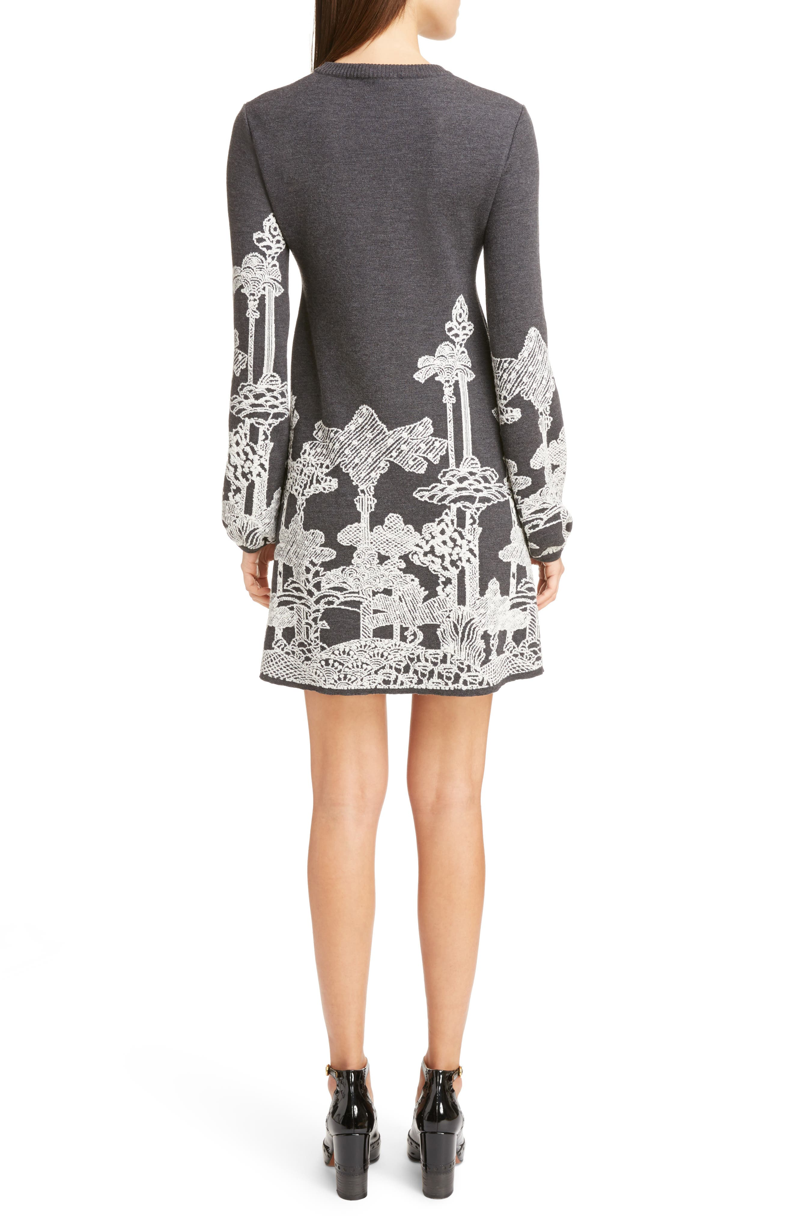 Alternate Image 2  - Chloé Merino Wool Dreamscape Jacquard Dress