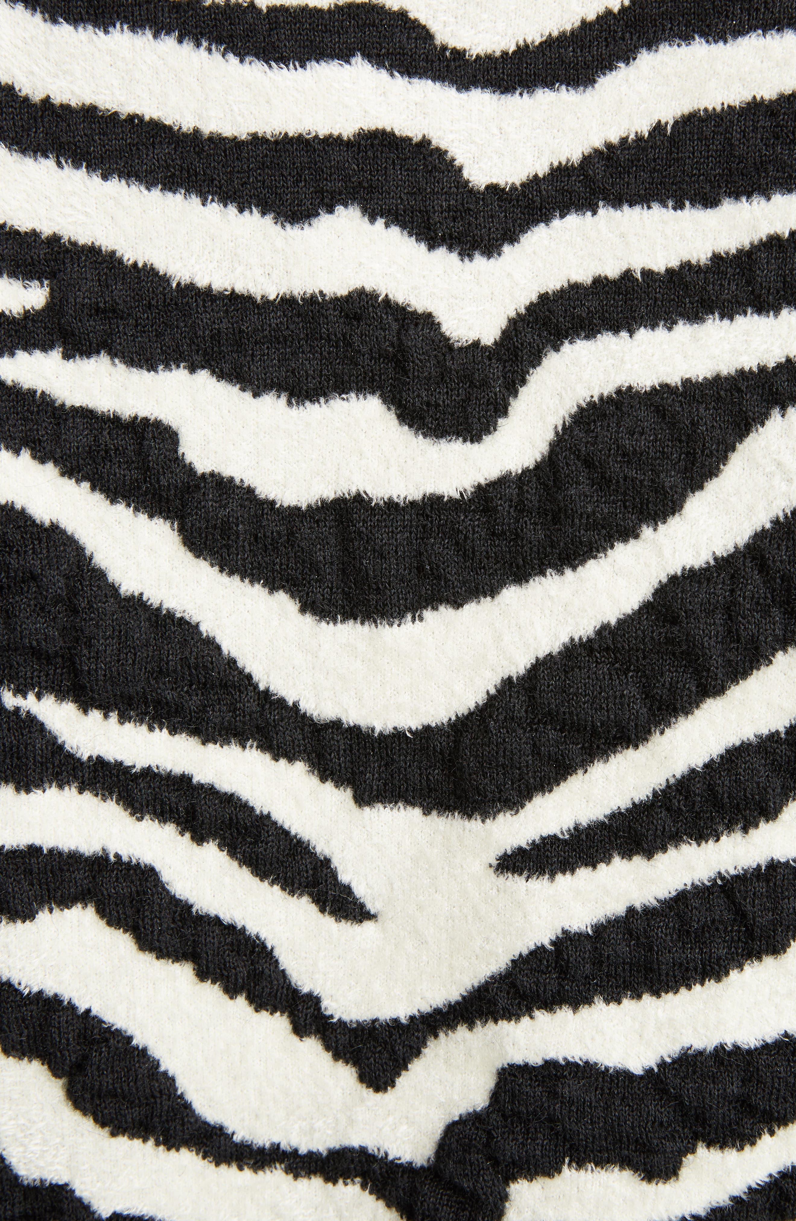Alternate Image 5  - Saint Laurent Tiger Knit Sweater