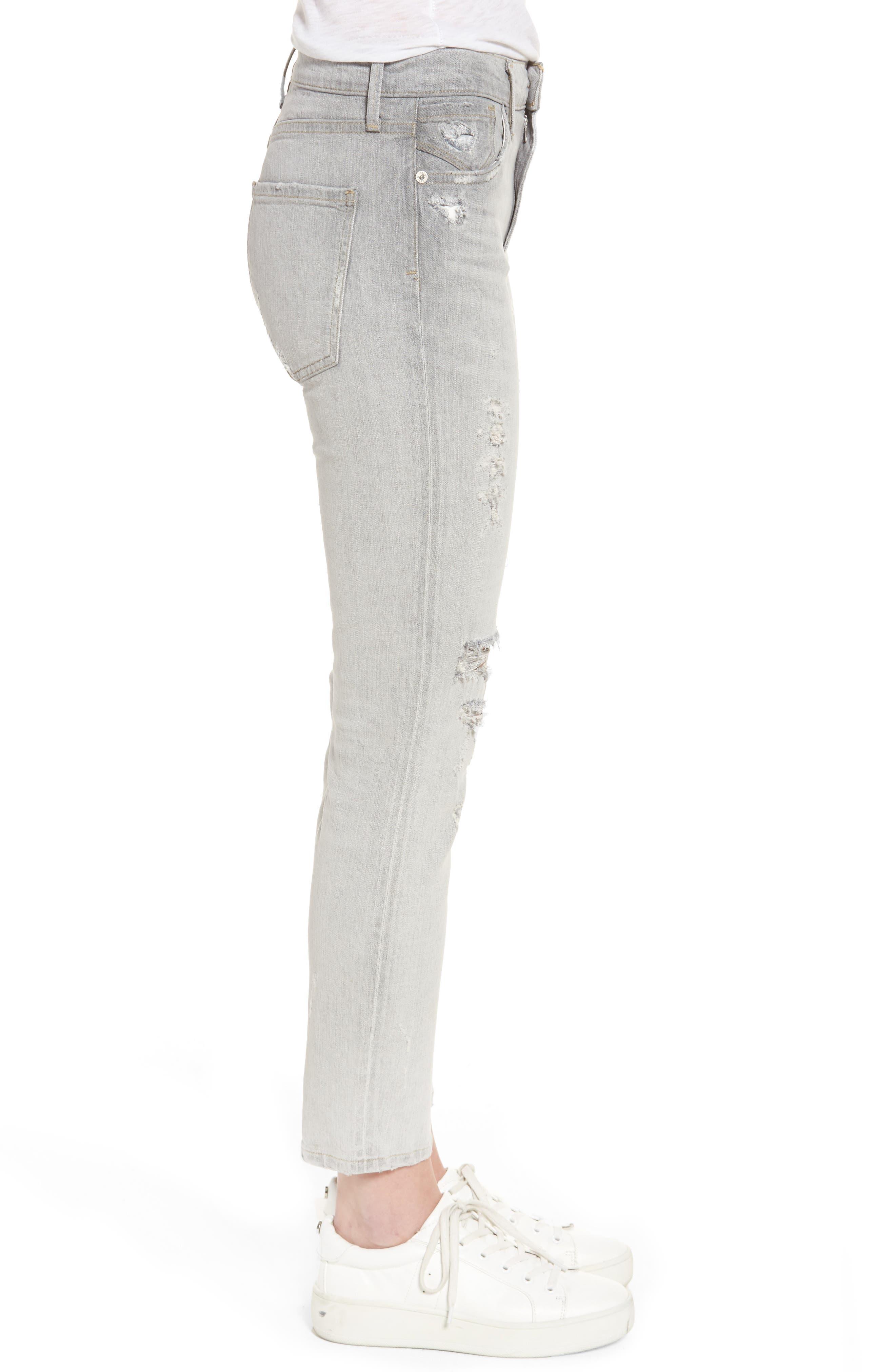 Sophie High Waist Skinny Jeans,                             Alternate thumbnail 3, color,                             Portland Destruct