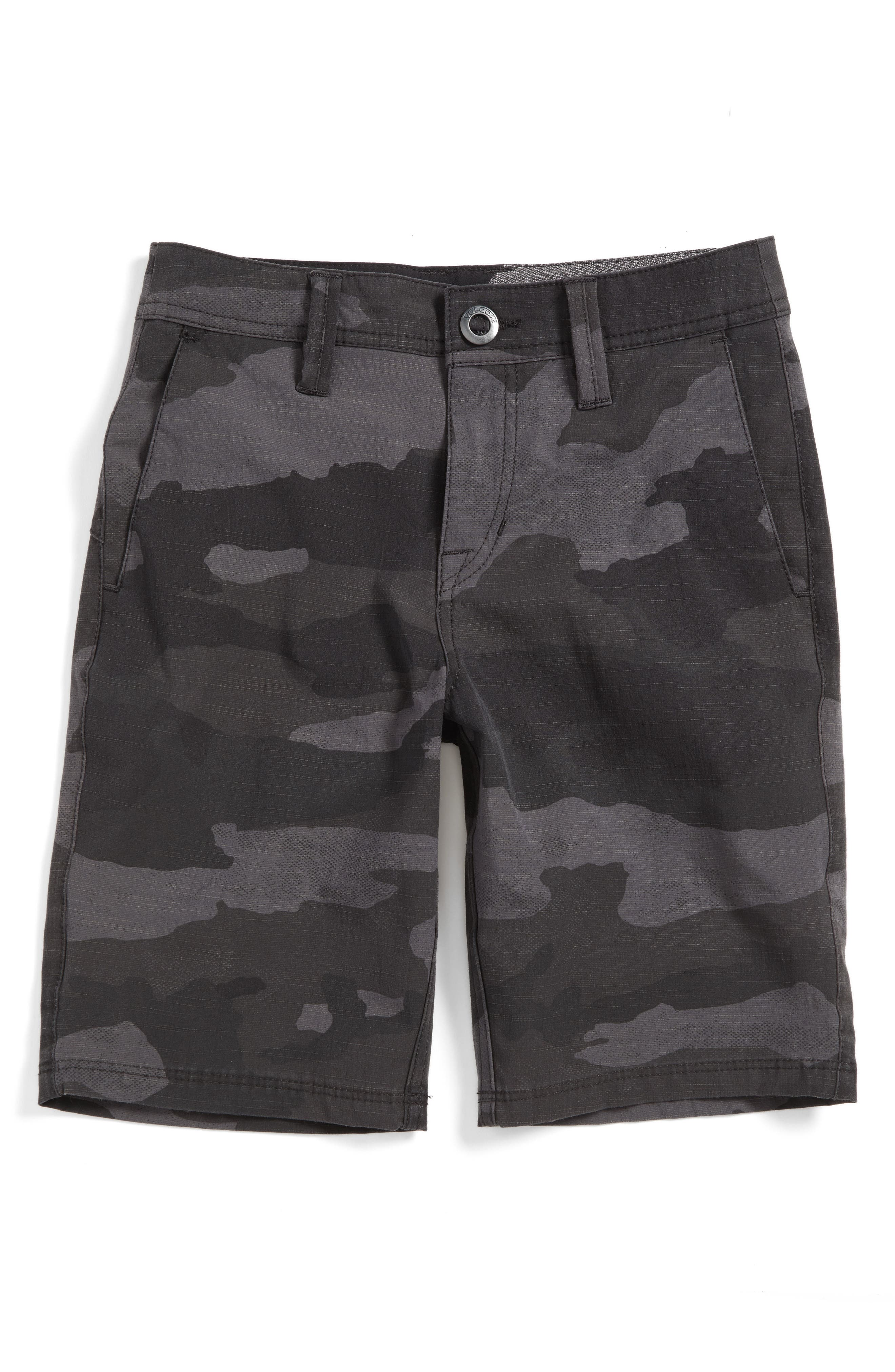 Surf N' Turf Hybrid Shorts,                             Main thumbnail 1, color,                             Black