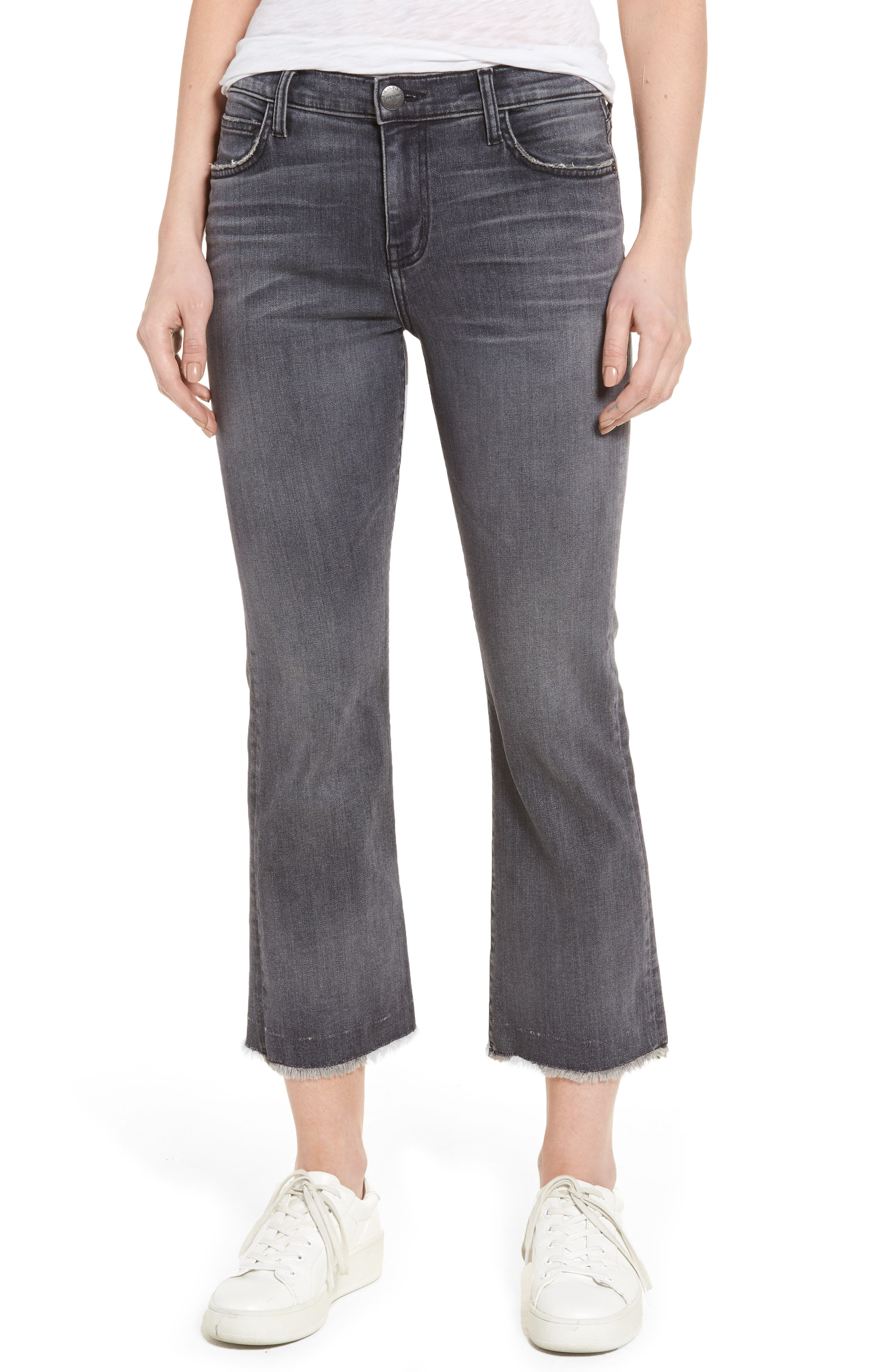 The Kick Raw Hem Crop Jeans,                         Main,                         color, Everett W/ Raw Hem