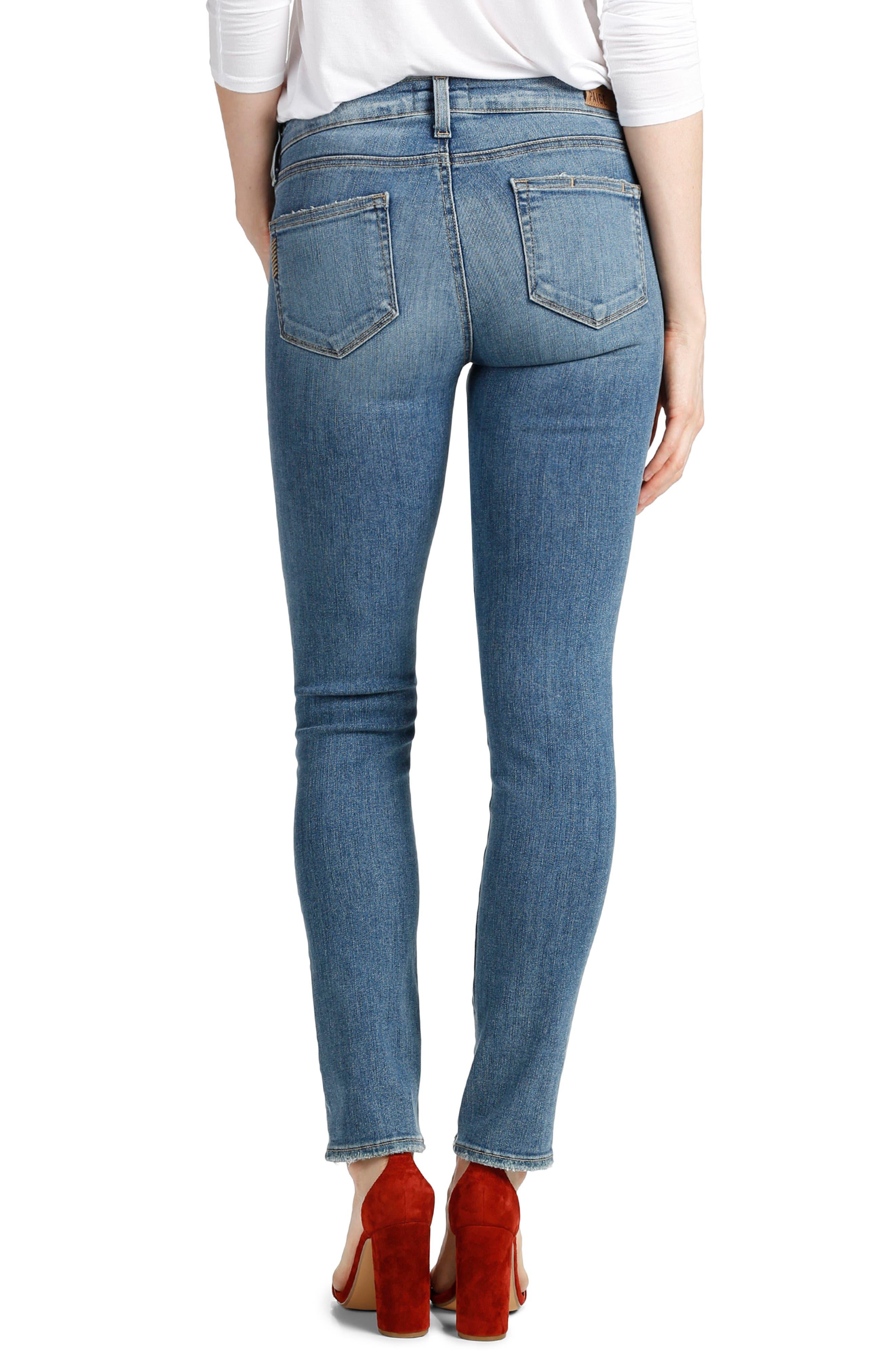 Transcend - Skyline Ankle Peg Skinny Jeans,                             Alternate thumbnail 3, color,                             Sienna