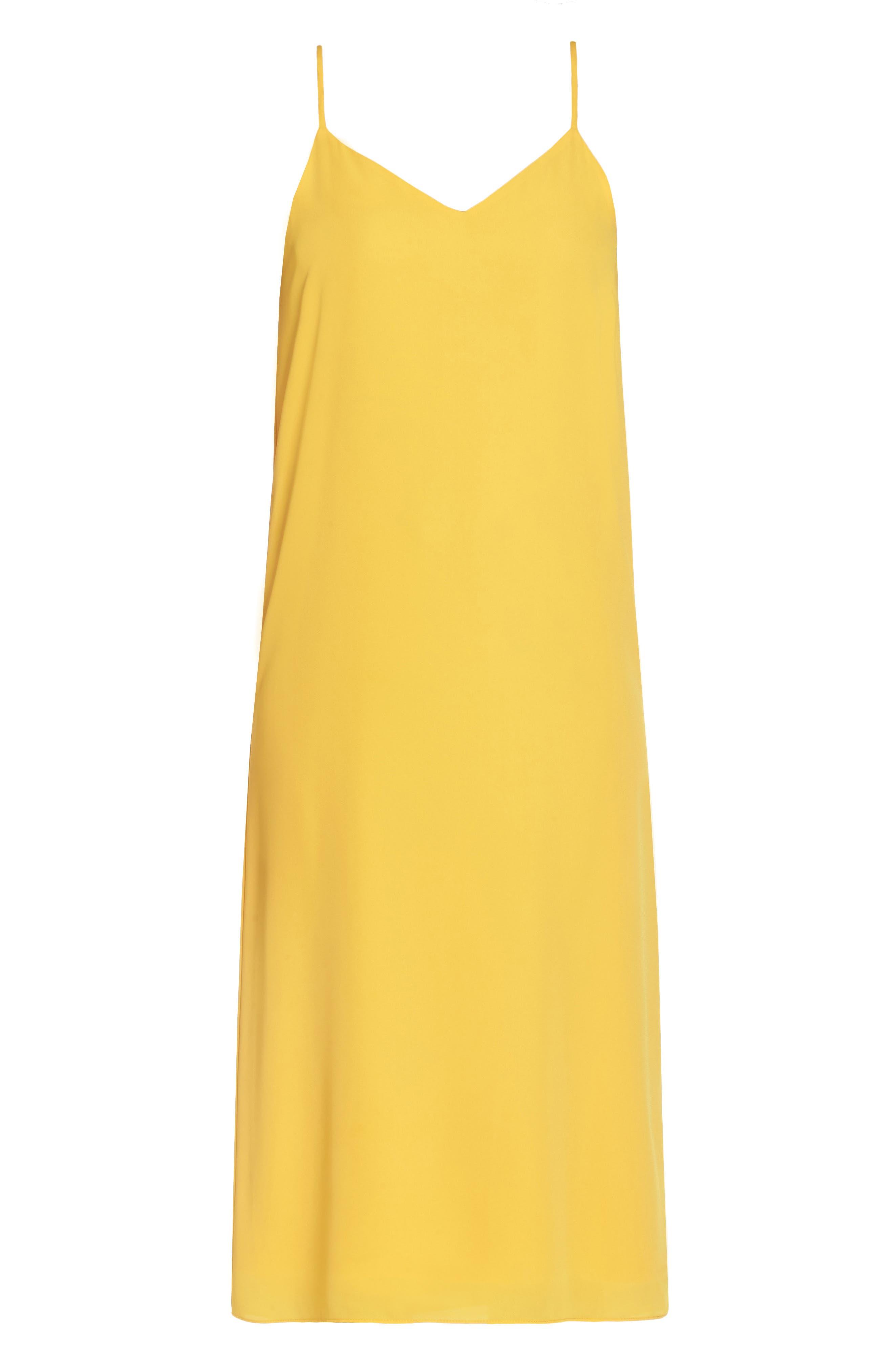 Dobby Midi Dress,                             Alternate thumbnail 6, color,                             Golden