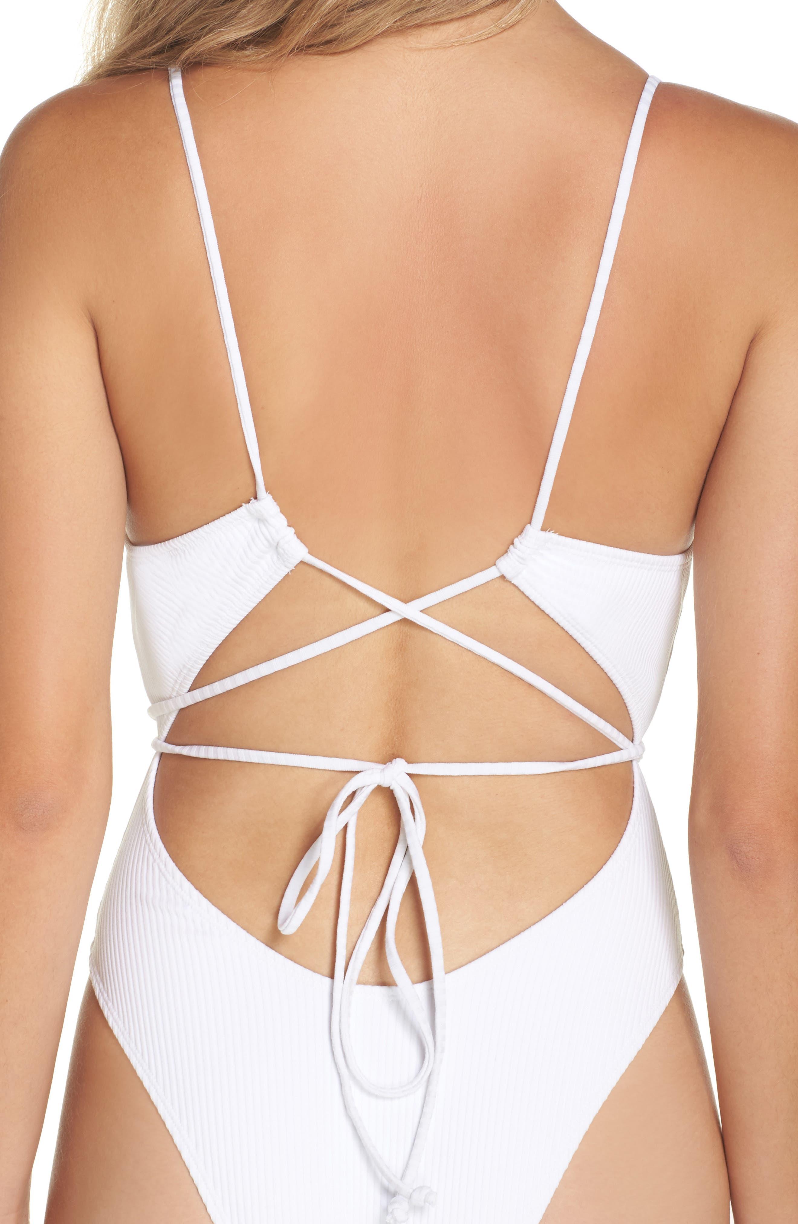 Daiquiri One-Piece Swimsuit,                             Alternate thumbnail 4, color,                             Sea Salt