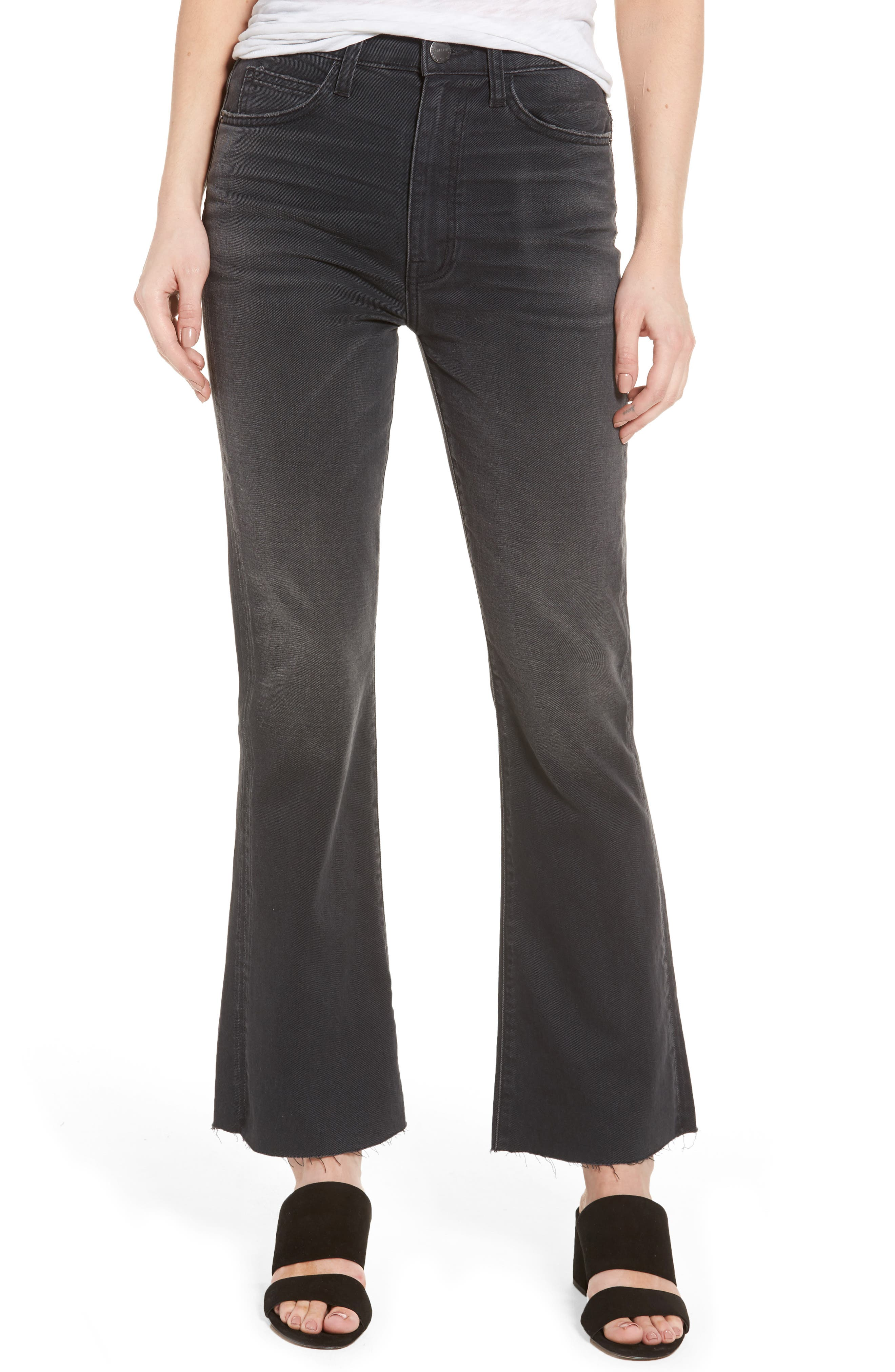 Main Image - Current/Elliott The Kick High Waist Crop Flare Jeans (Edgebrook)