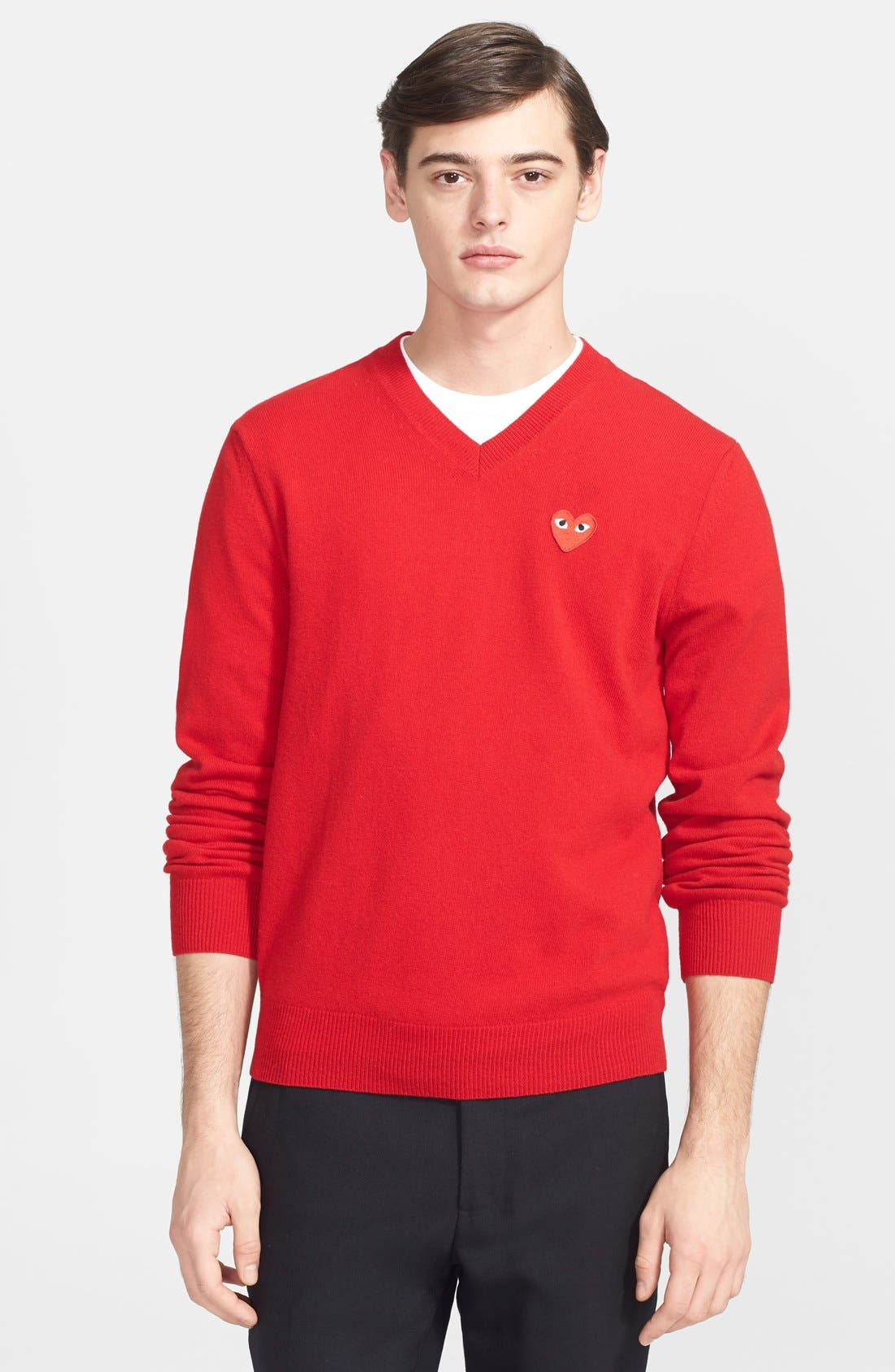 PLAY Wool Pullover,                         Main,                         color, Red