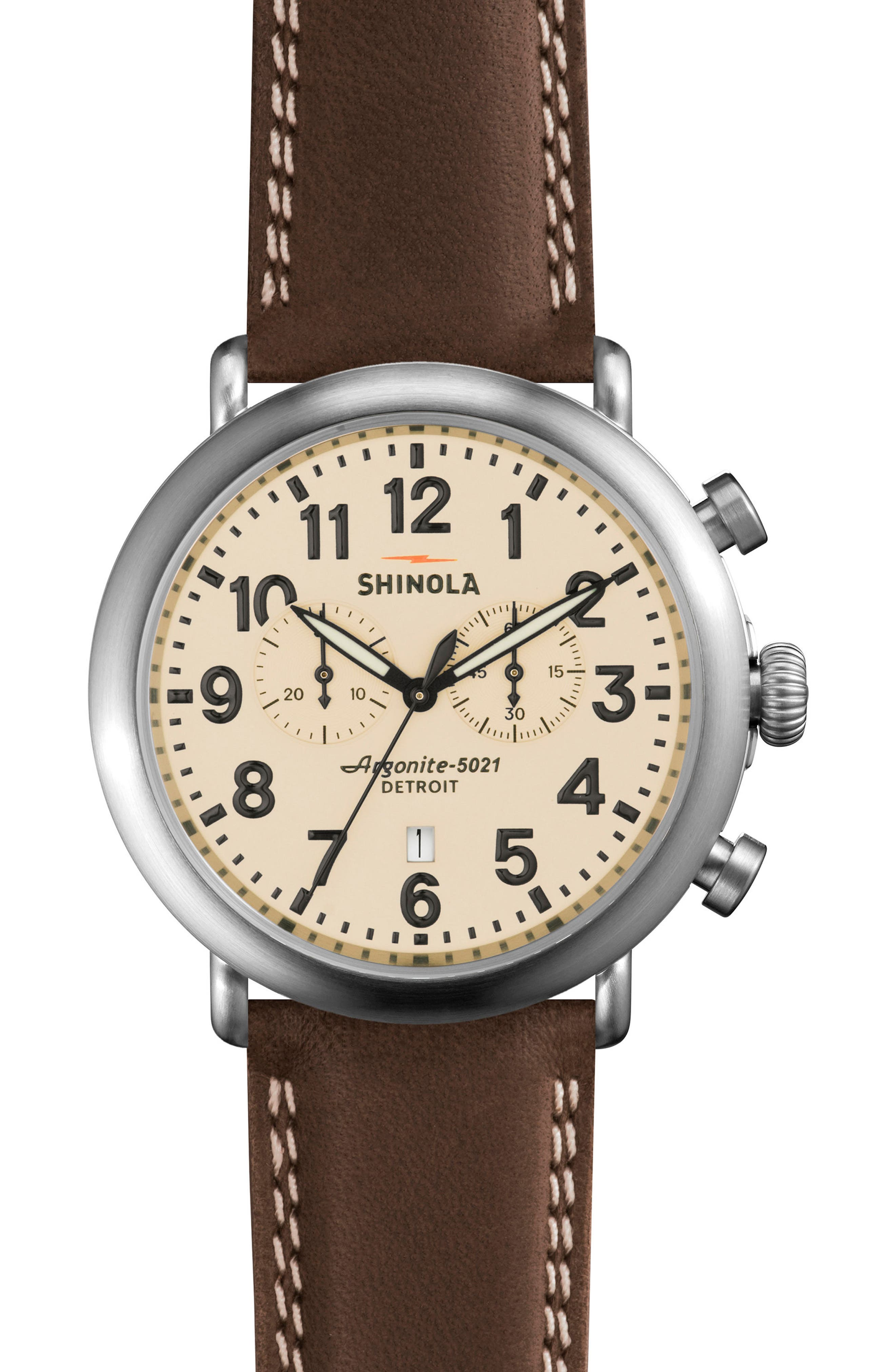 Alternate Image 2  - Shinola The Runwell Chronograph Watch Gift Set, 47mm