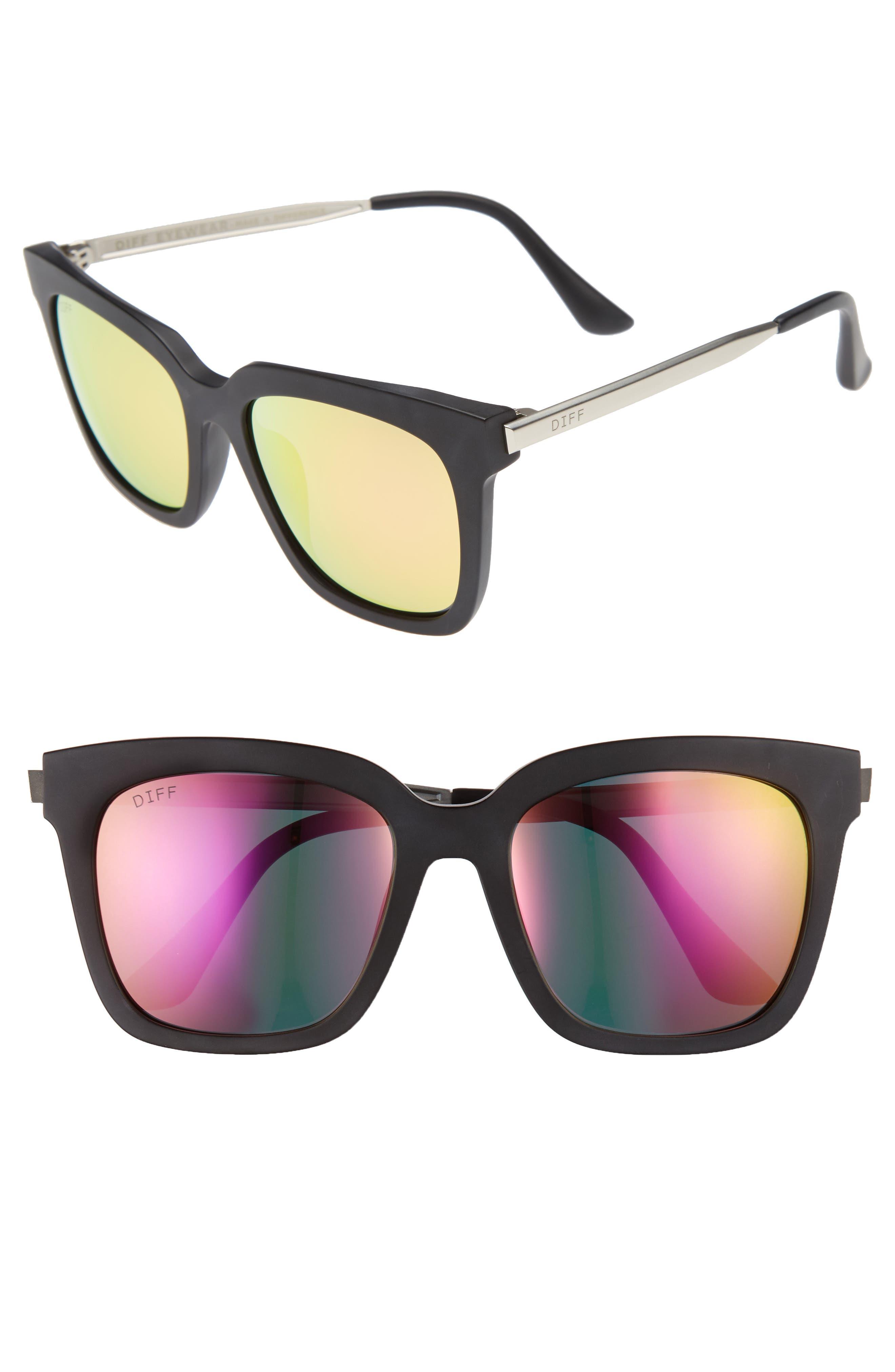 Main Image - DIFF Bella 52mm Polarized Sunglasses