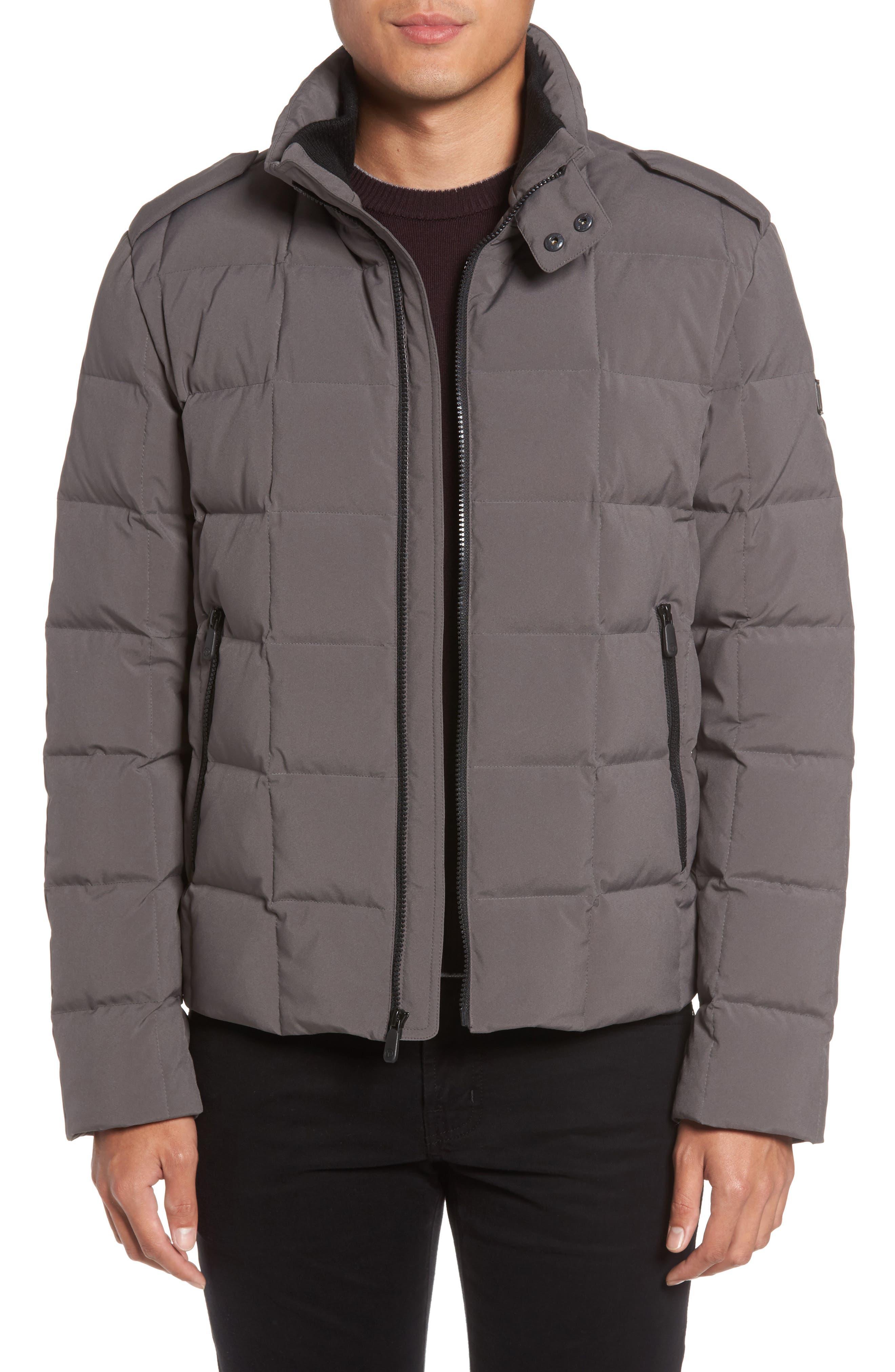Main Image - Tumi Box Quilted Jacket