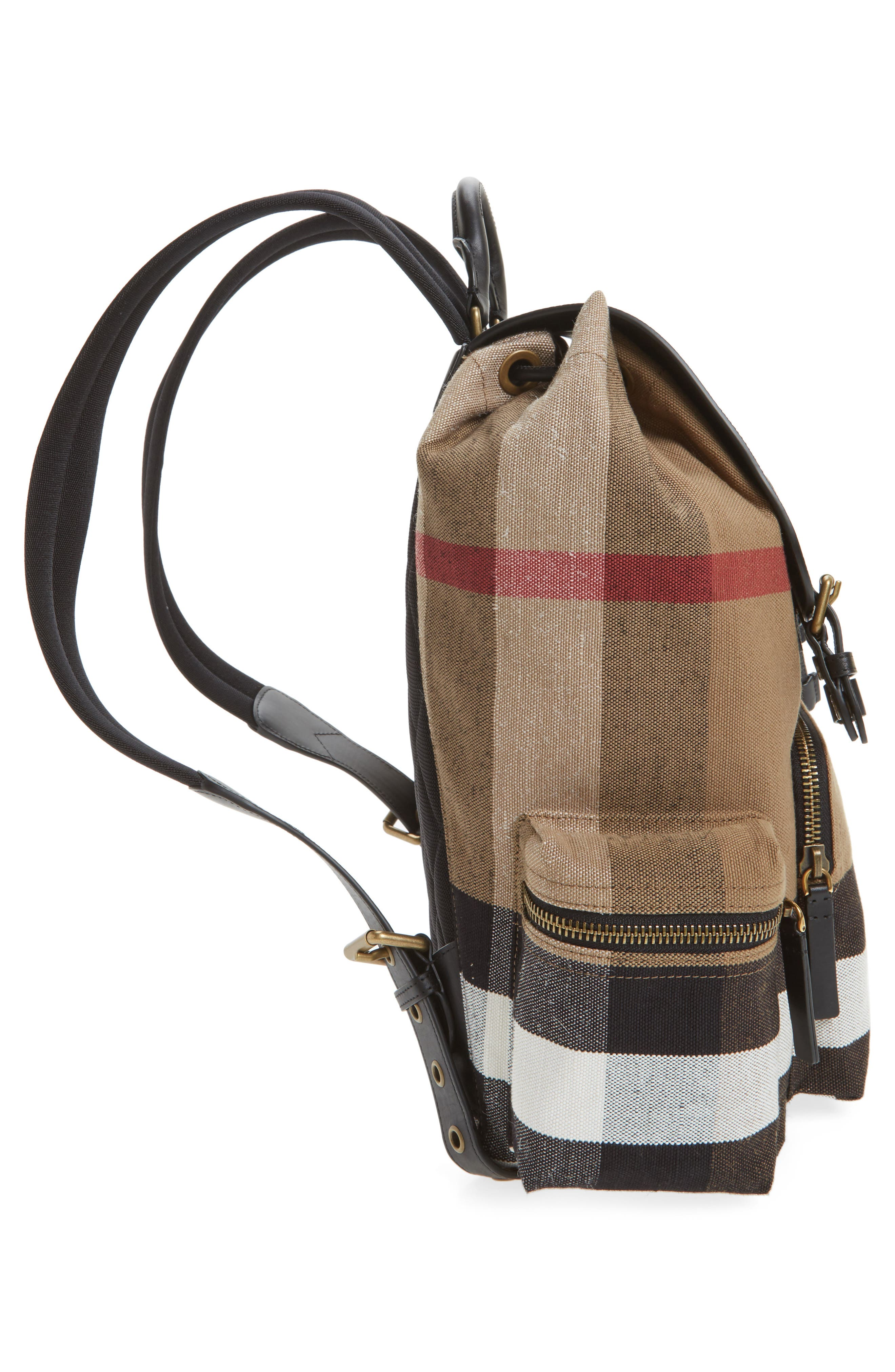 Rucksack Backpack,                             Alternate thumbnail 5, color,                             Classic Check