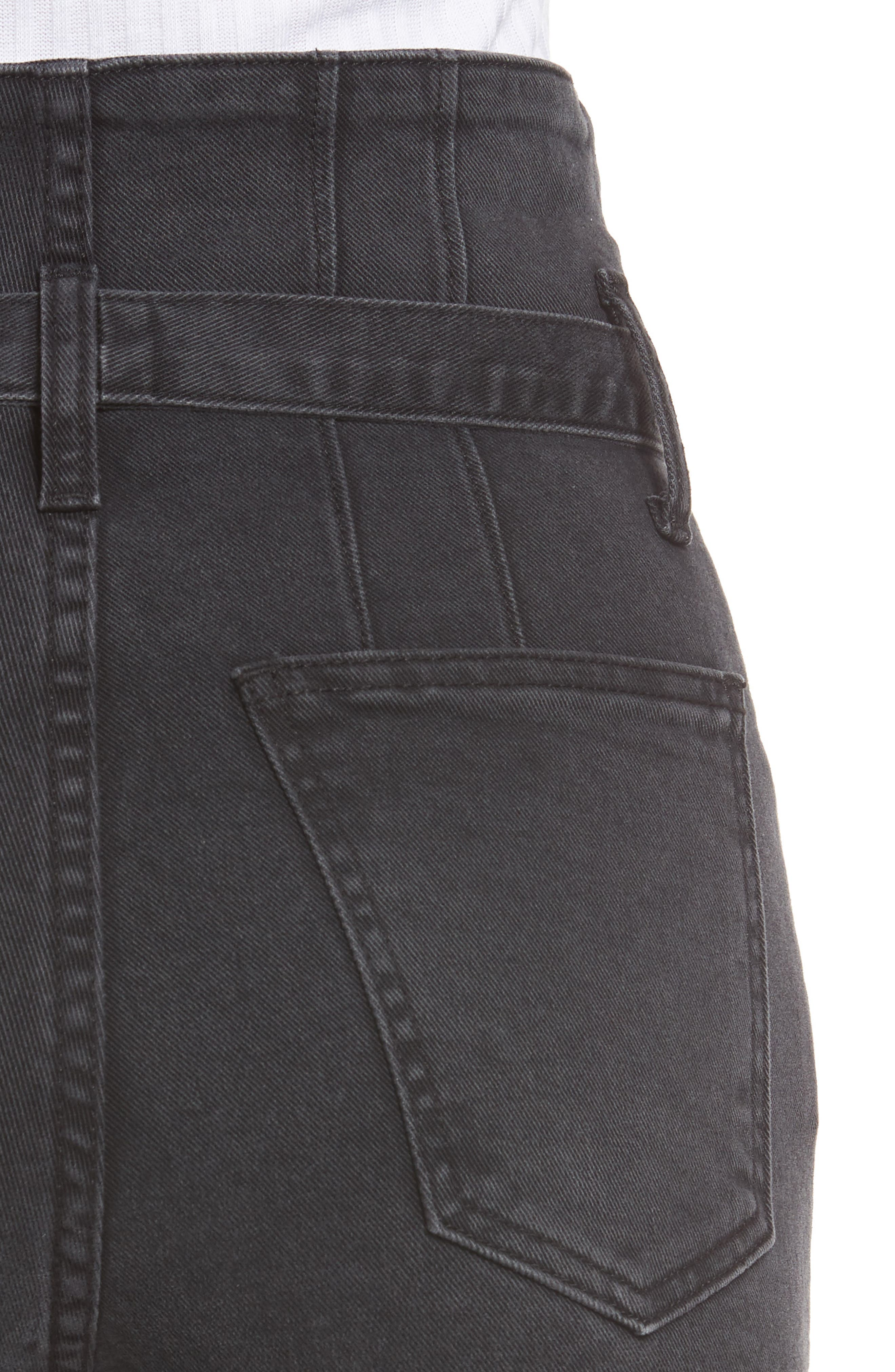 Alternate Image 4  - Current/Elliott Corset Stiletto Ankle Skinny Jeans (Indiana)