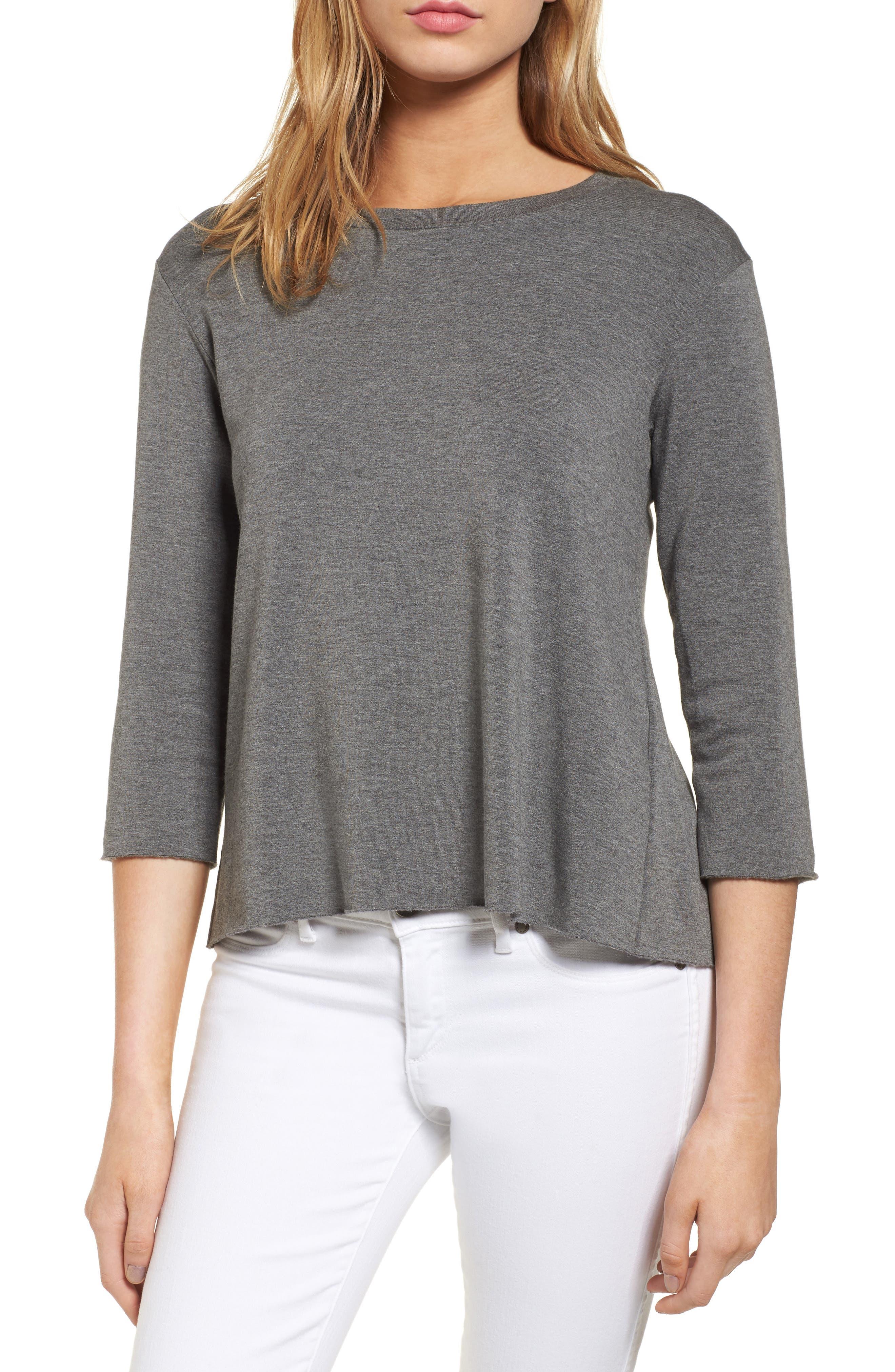Frappe Tie Back Sweater,                         Main,                         color, Marengo