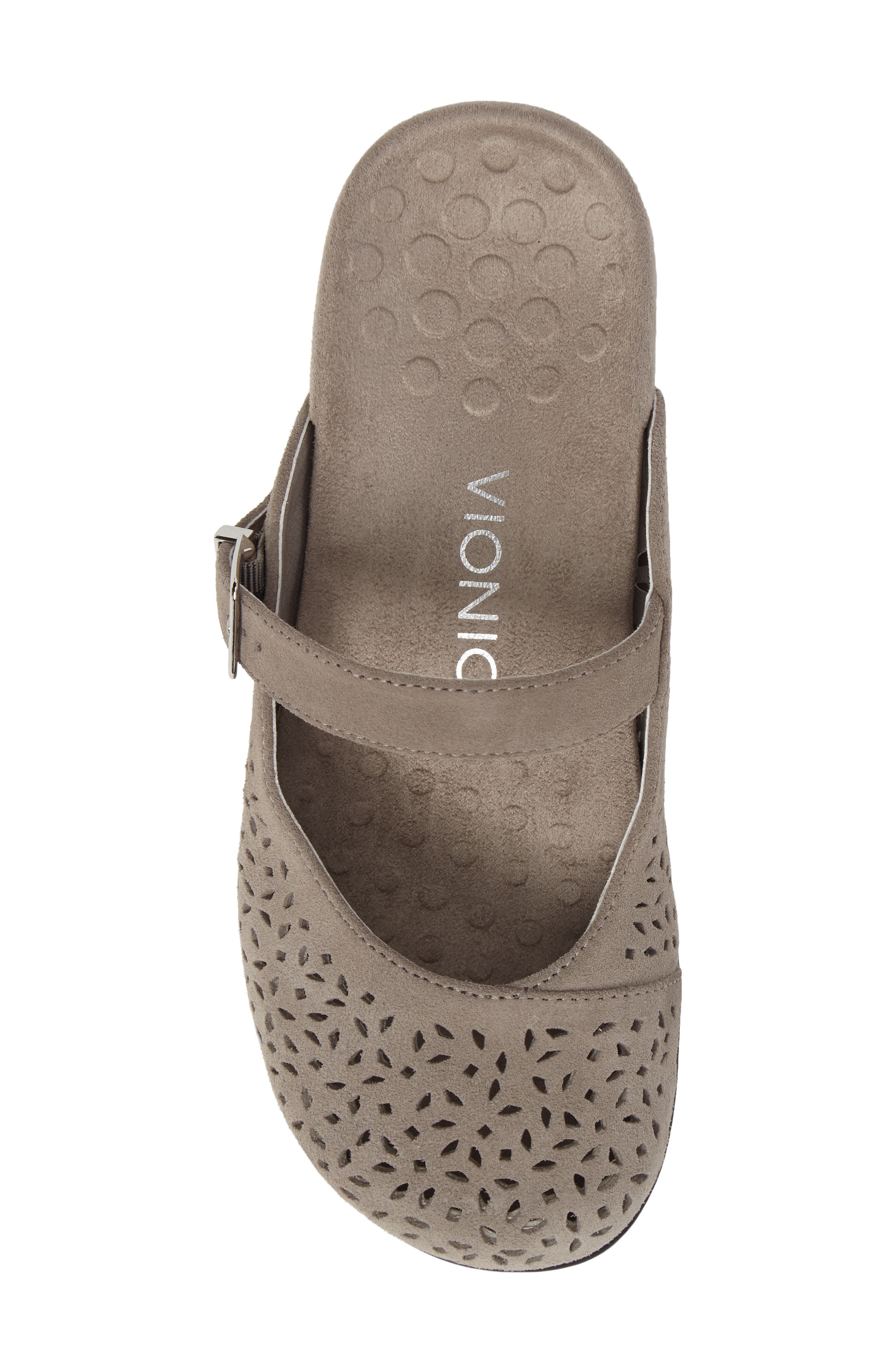 Rest Lidia Perforated Mary Jane Mule,                             Alternate thumbnail 5, color,                             Grey Suede