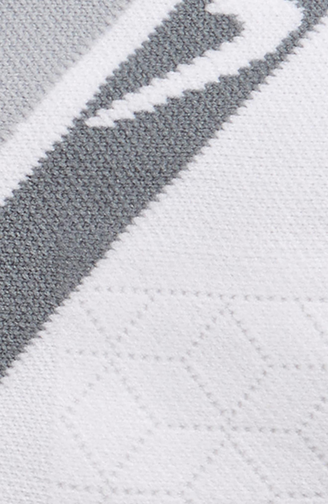 Performance Cushion No-Show Socks,                             Alternate thumbnail 2, color,                             Grey/ White Stripe