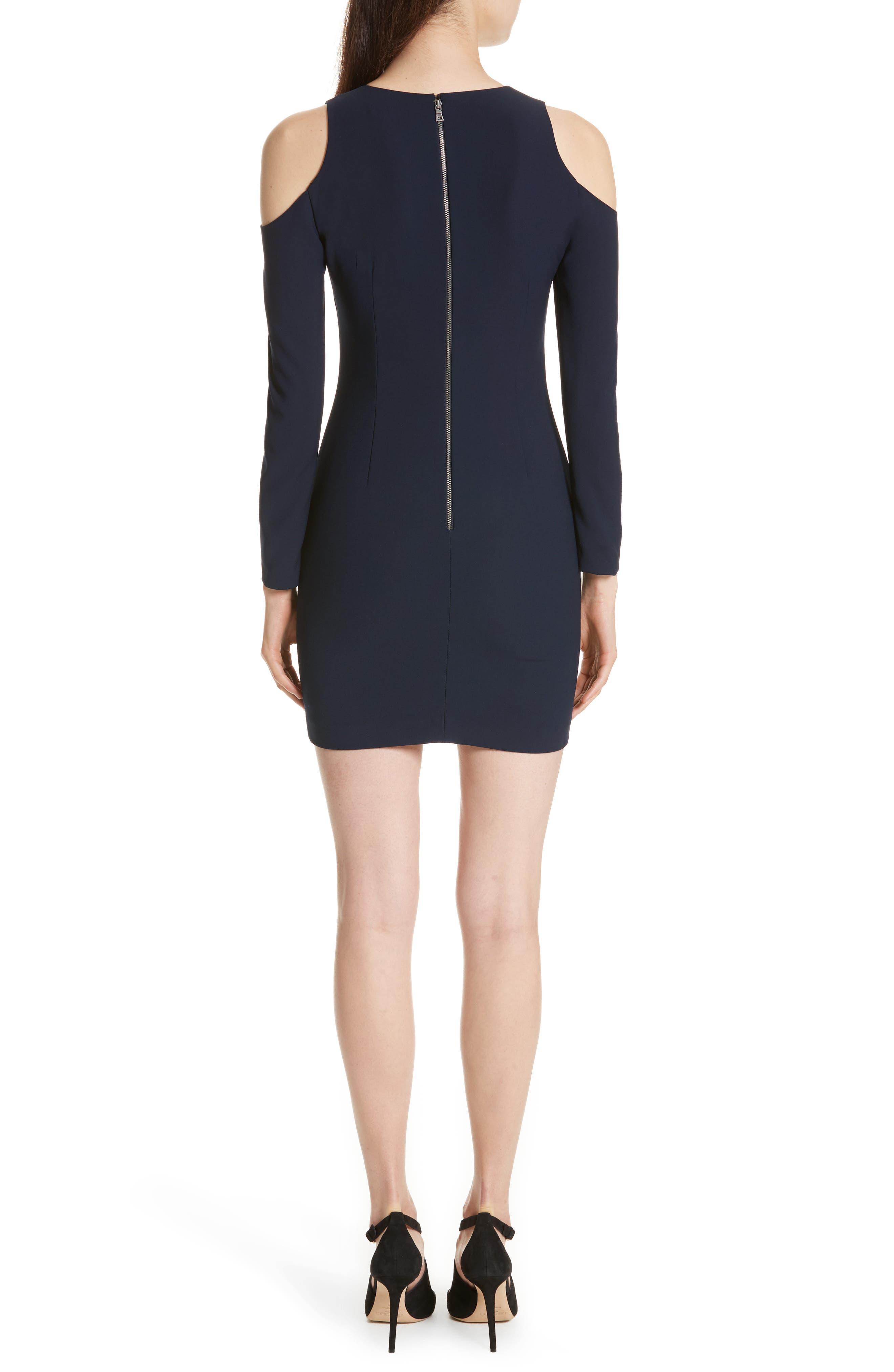 Niko Cold Shoulder Dress,                             Alternate thumbnail 2, color,                             Sapphire