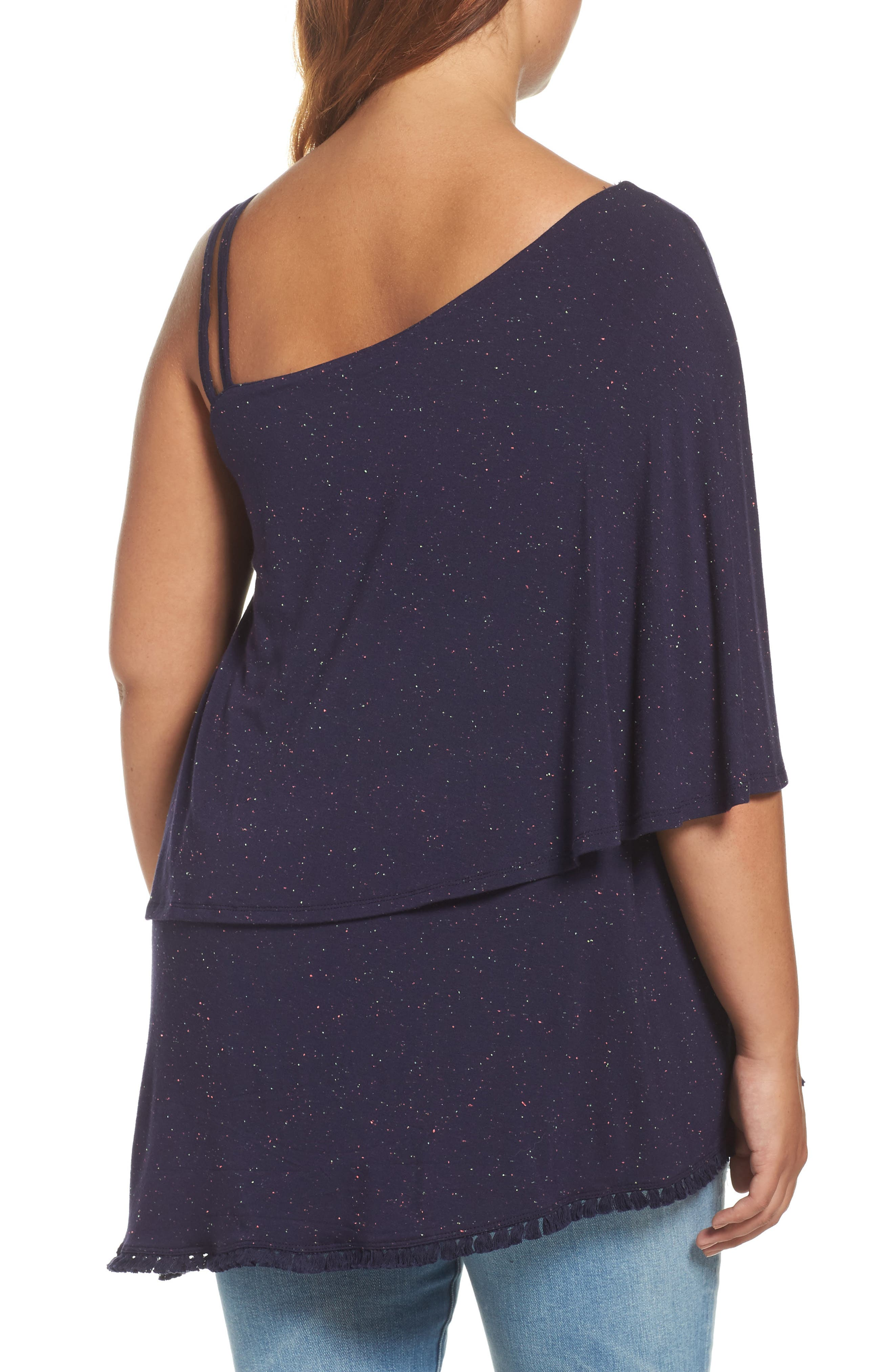 Alternate Image 2  - Wit & Wisdom One-Shoulder Ruffle Asymmetrical Top (Plus Size) (Nordstrom Exclusive)