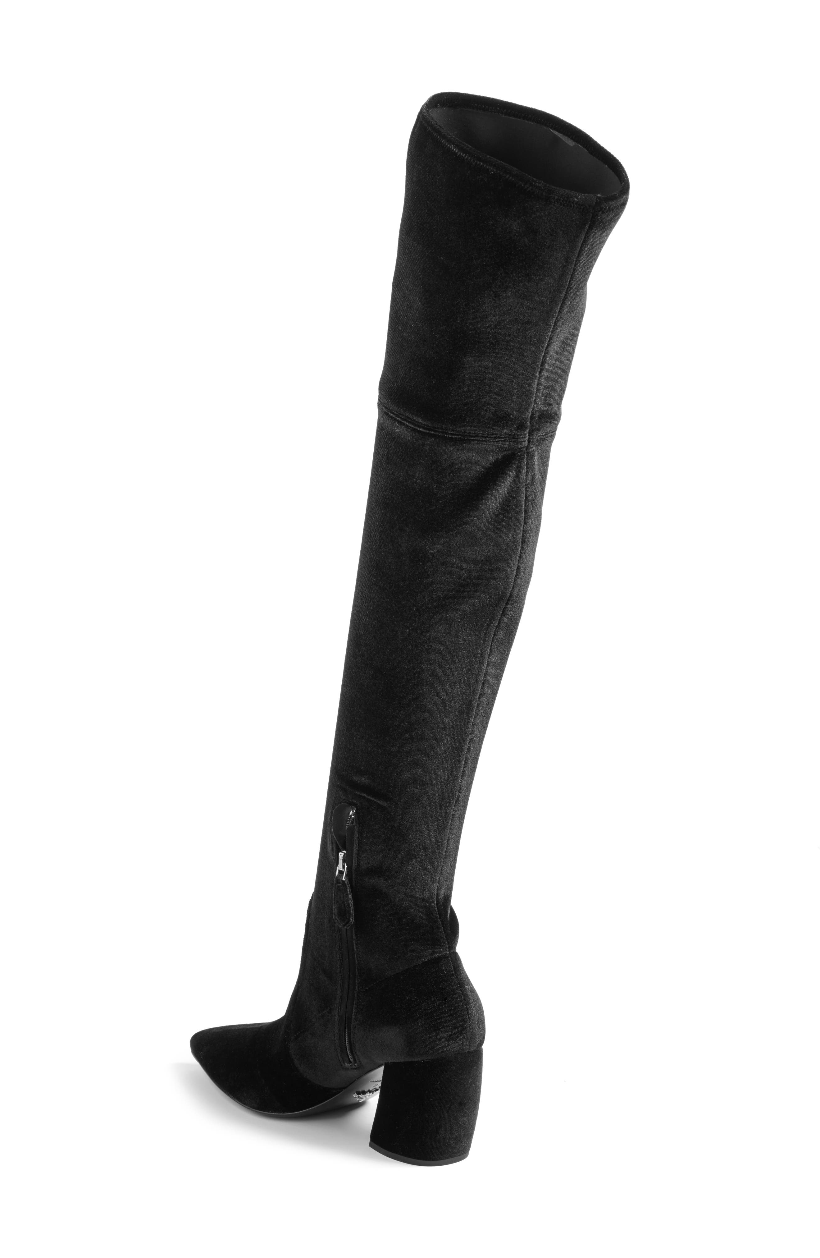 Over the Knee Boot,                             Alternate thumbnail 2, color,                             Black