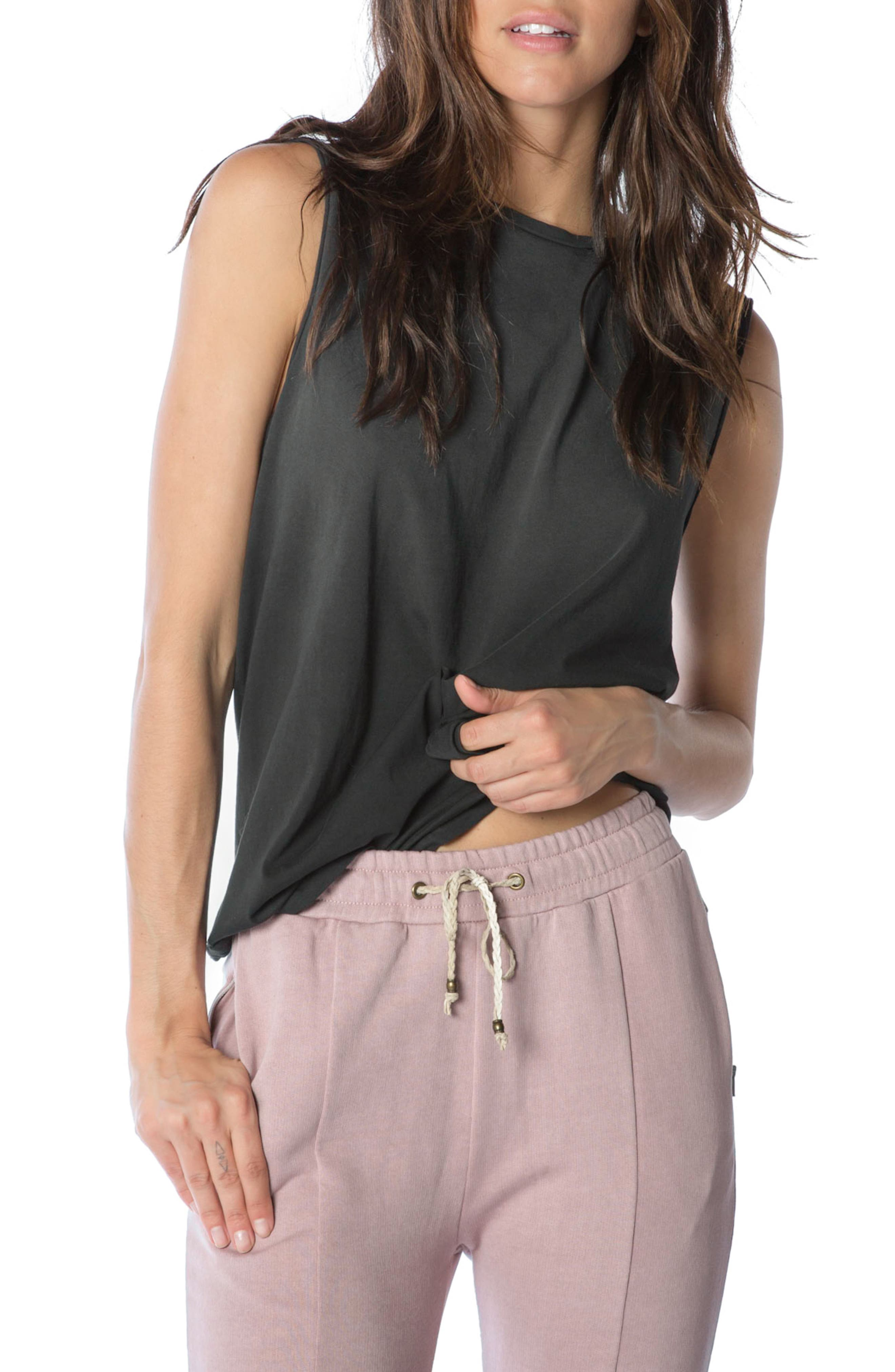 Muscle Tank,                         Main,                         color, Faded Black