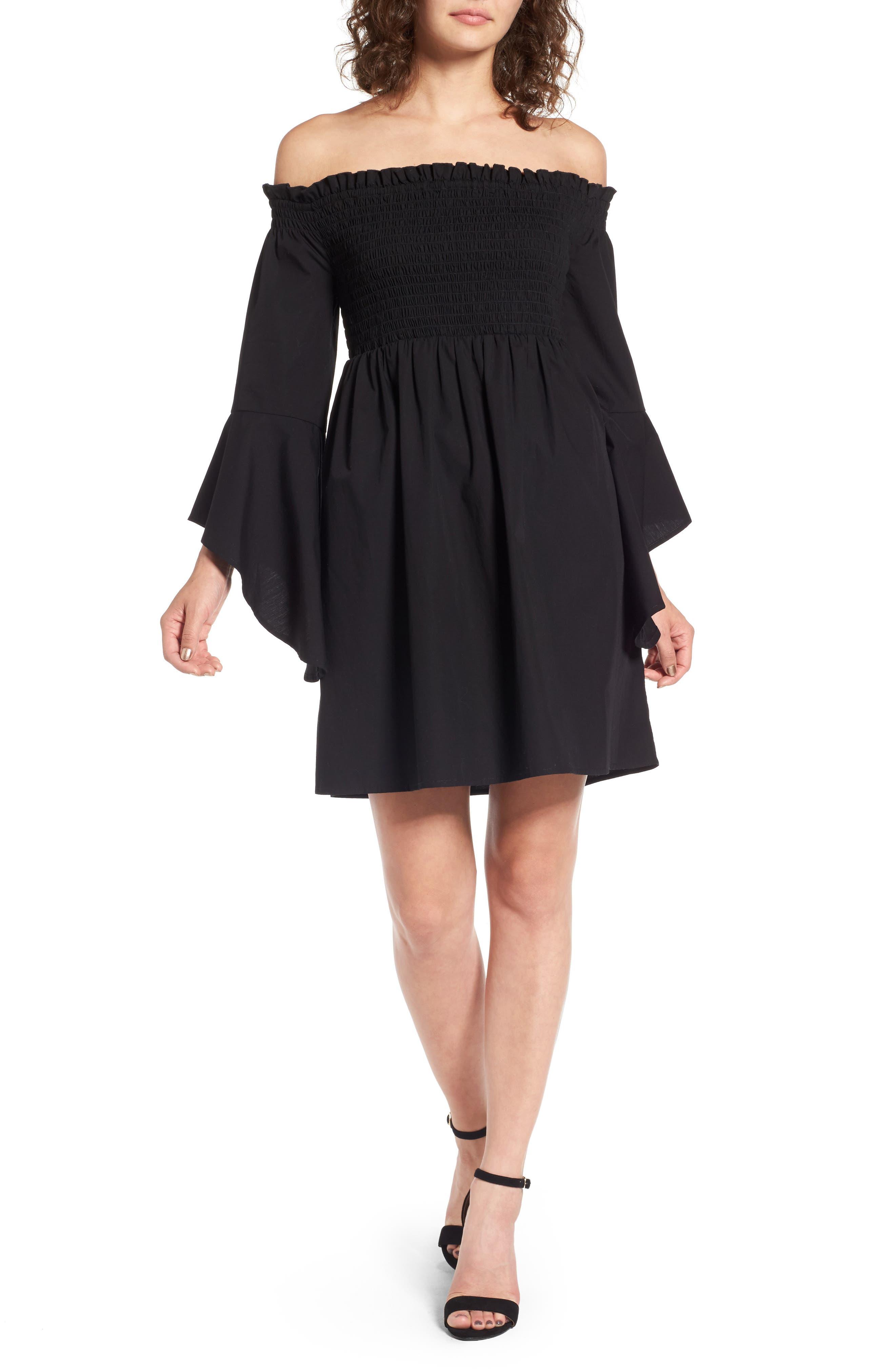 BP. Smocked Off the Shoulder Dress