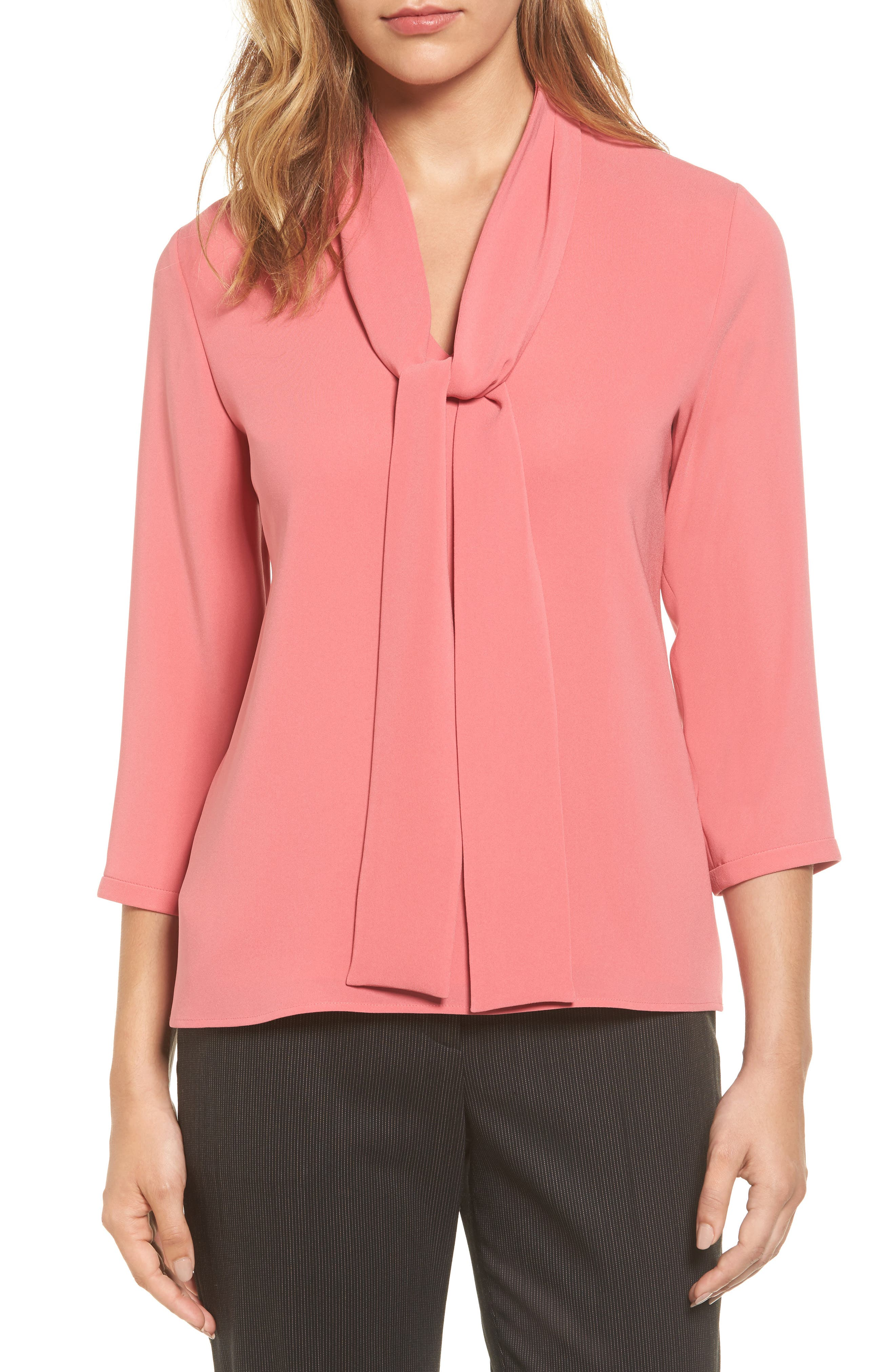 BOSS Iasena Tie Neck Blouse