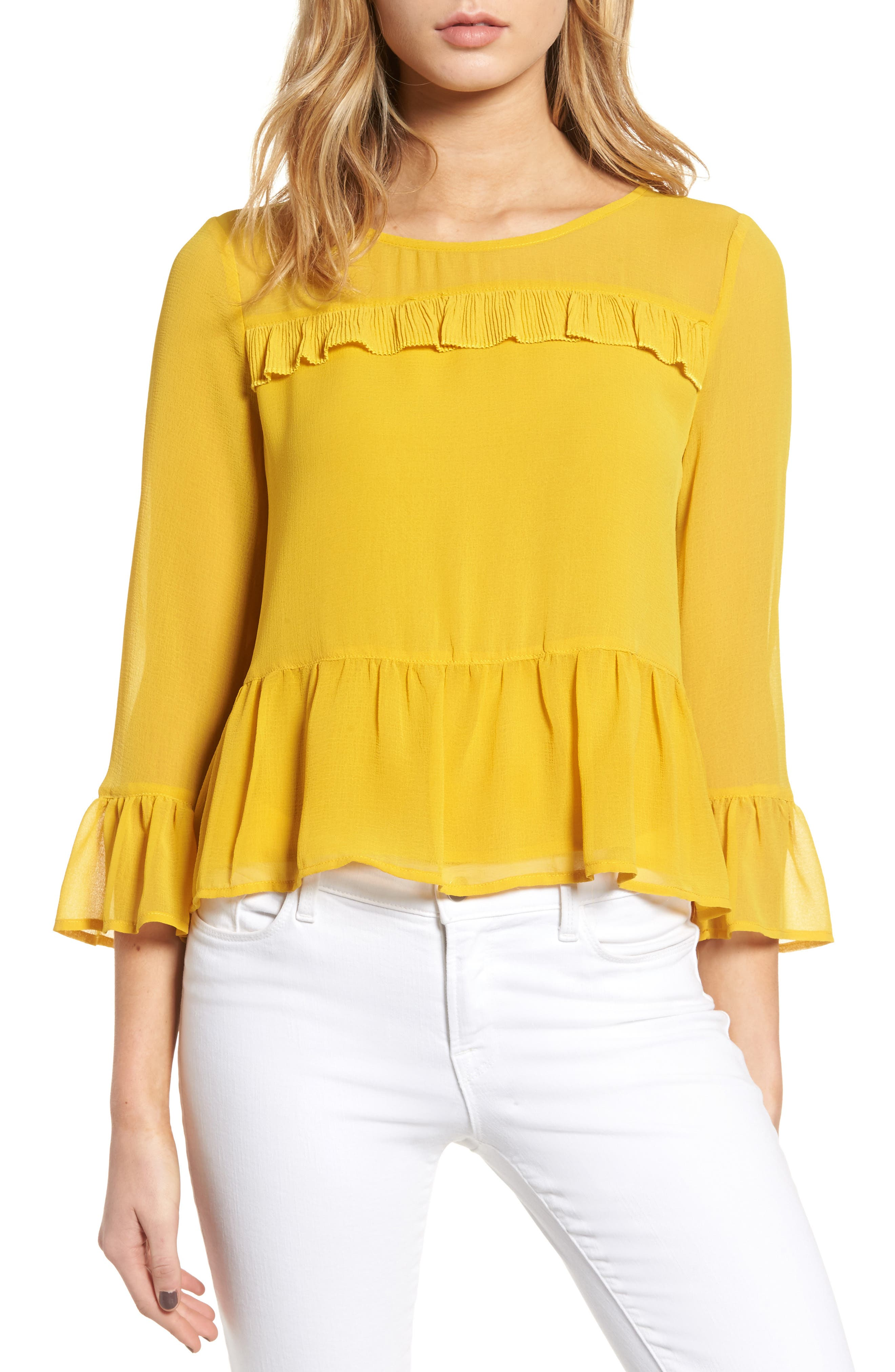 cupcakes and cashmere Katlyn Peplum Top