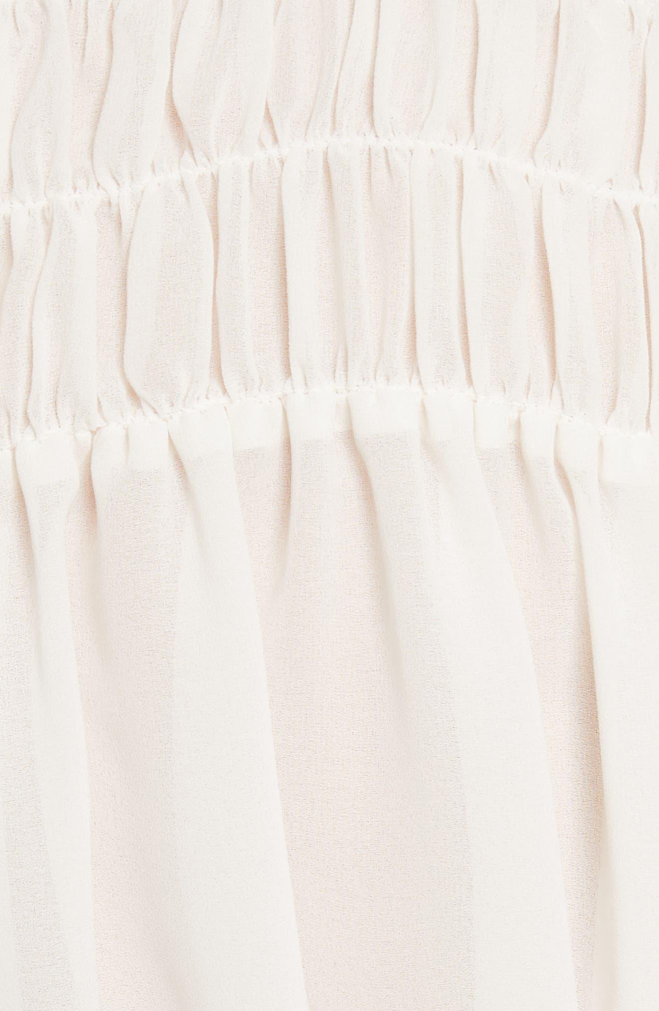 Smocked Tie Back Blouse,                             Alternate thumbnail 6, color,                             Off White