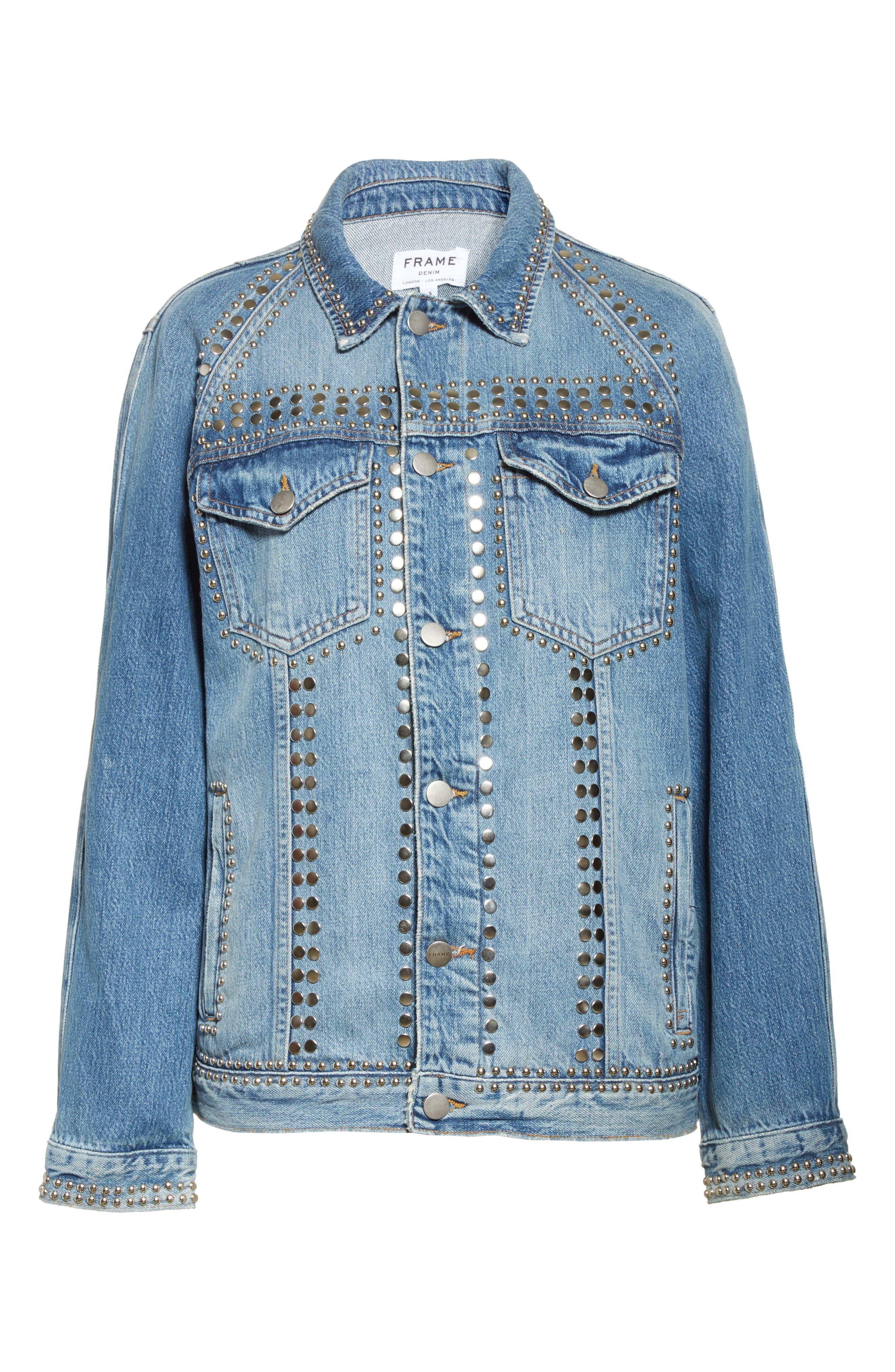 Alternate Image 8  - FRAME Le Studded Denim Jacket