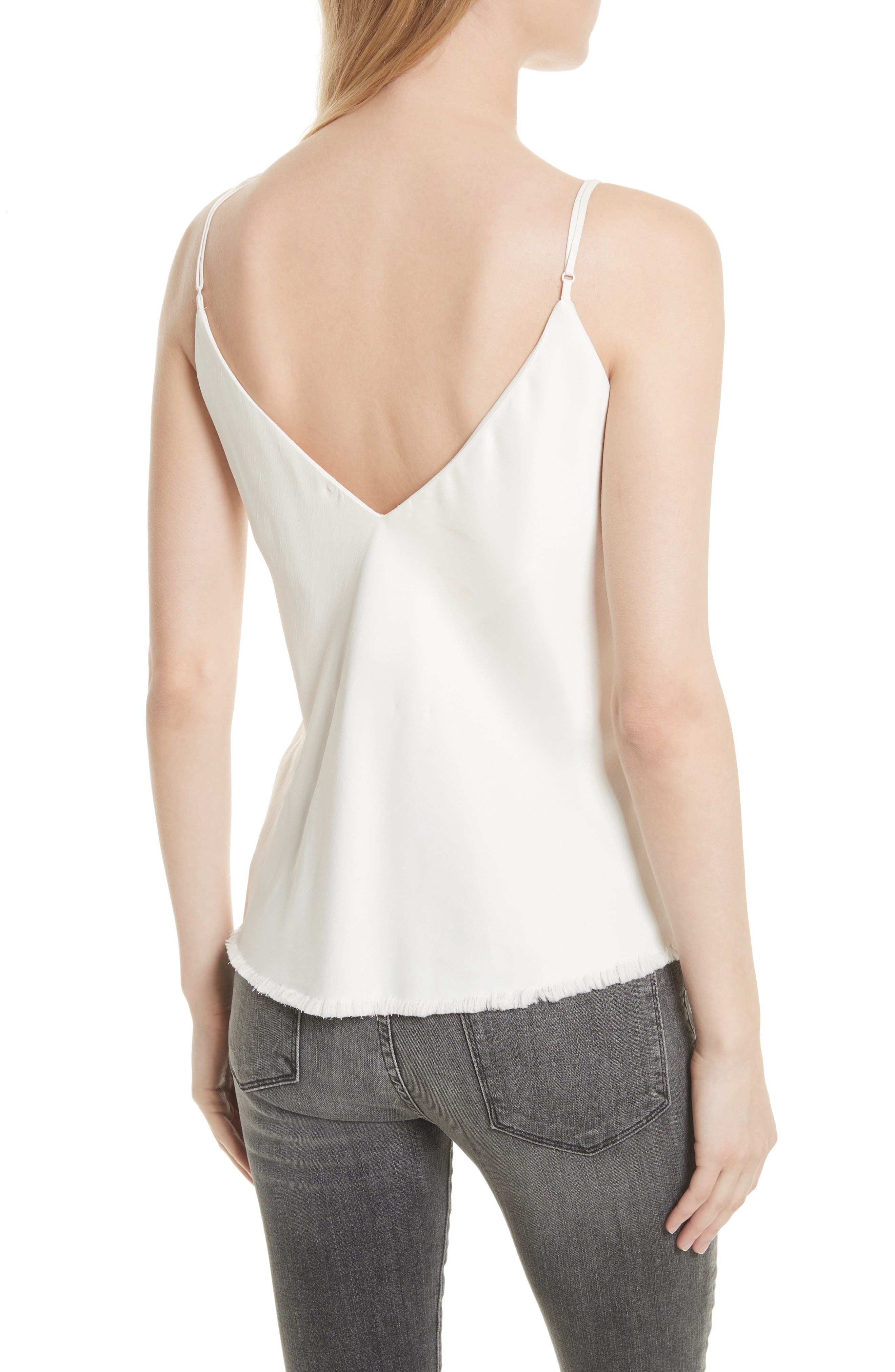 Satin Bias Tank,                             Alternate thumbnail 2, color,                             Off White