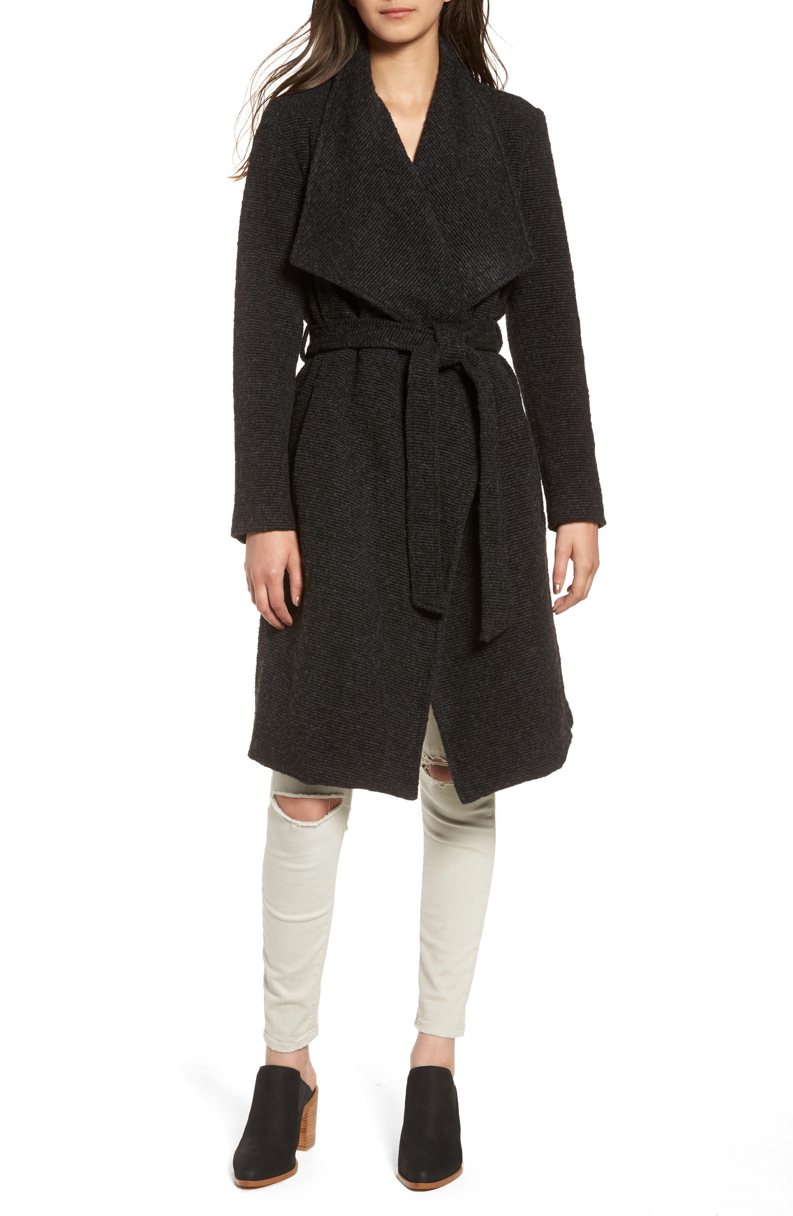 BB Dakota Issac Ribbed Blanket Coat