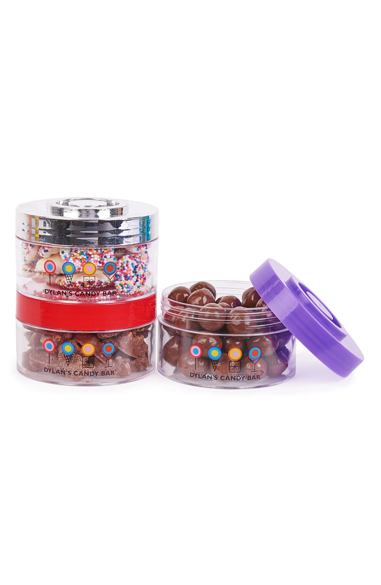 Chocolate Stack-A-Round 3-Pack Signature Gift Set,                             Alternate thumbnail 4, color,                             Blue