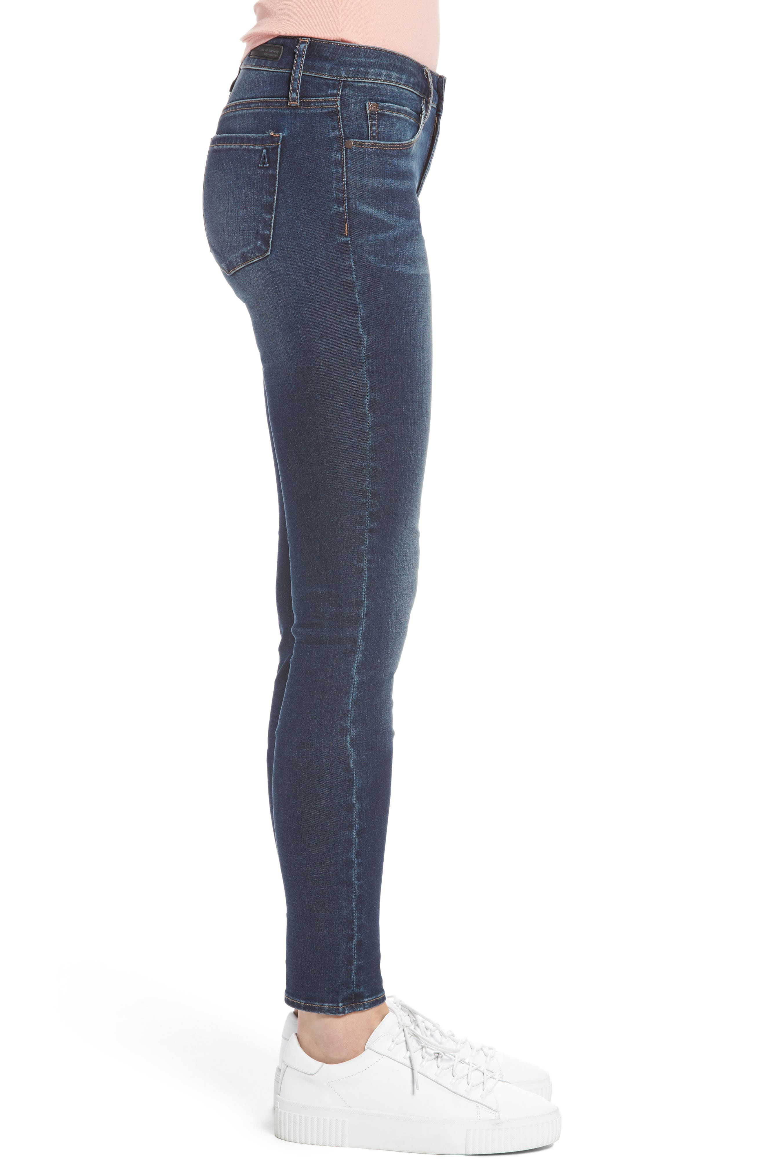 Alternate Image 3  - Articles of Society Melody Skinny Jeans (Blue Ridge)
