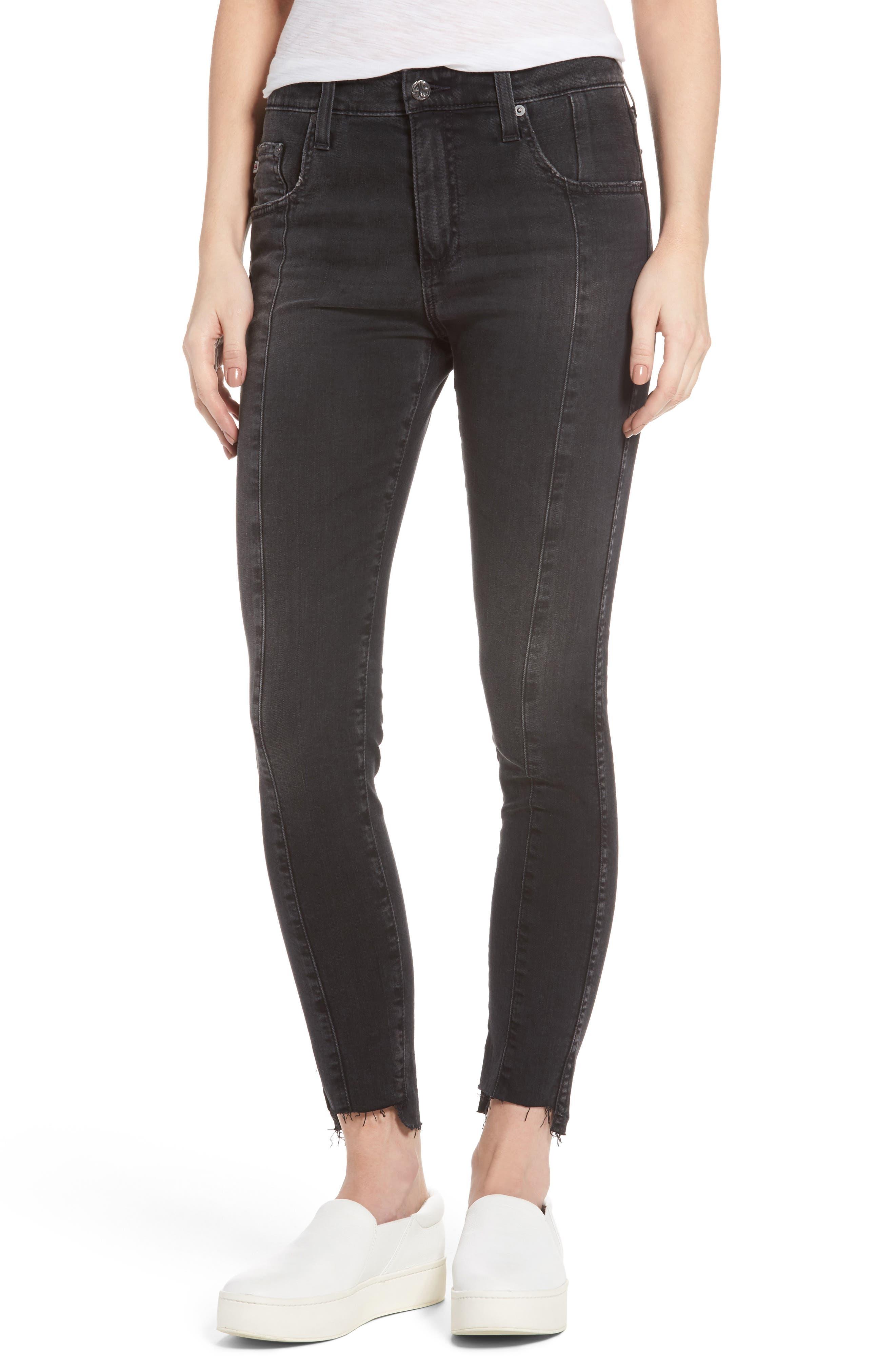 Alternate Image 1 Selected - AG The Farrah High Waist Ankle Skinny Jeans (Thirteen)