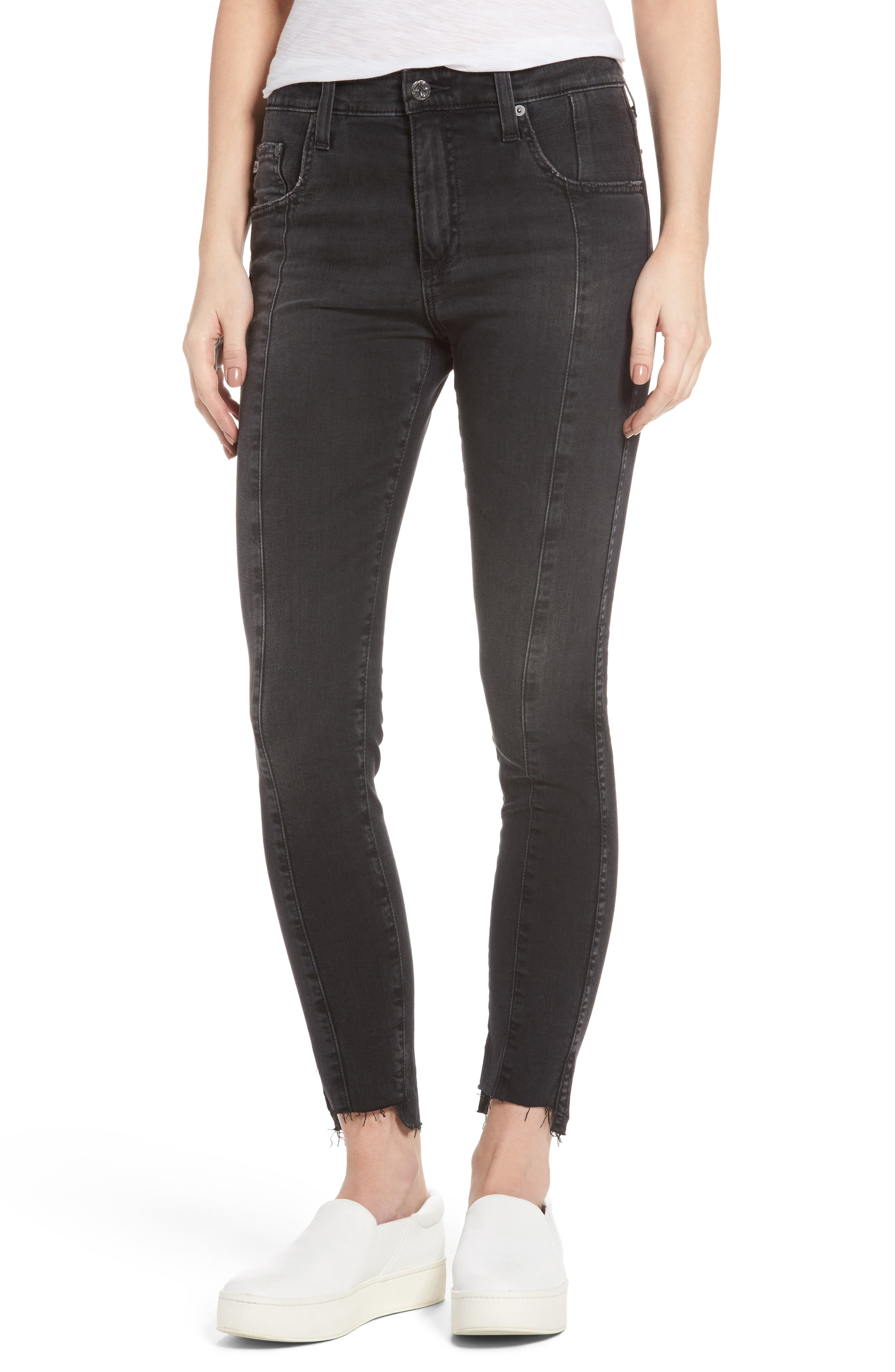 Main Image - AG The Farrah High Waist Ankle Skinny Jeans (Thirteen)