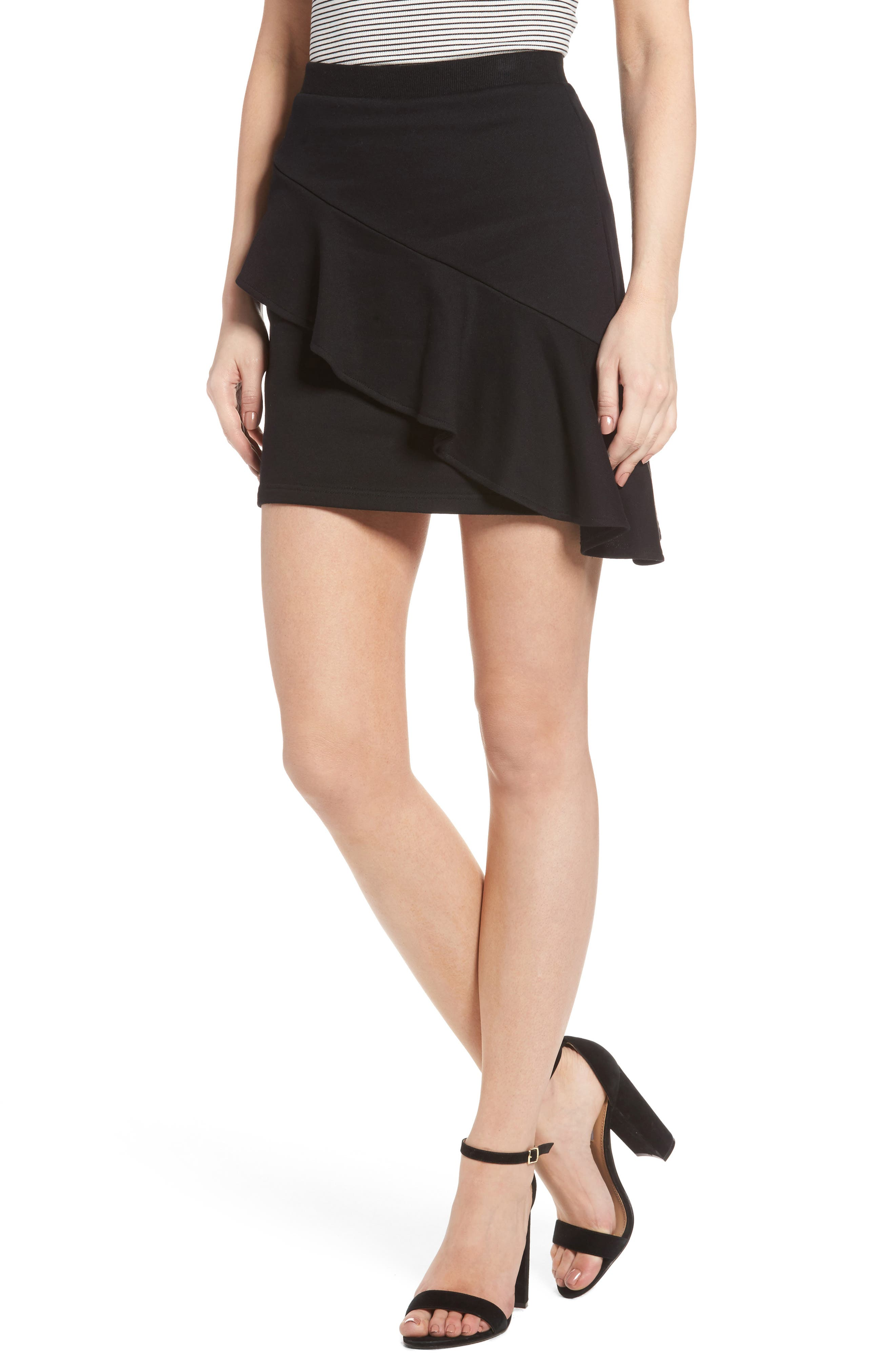 Lush Asymmetrical Ruffle Skirt