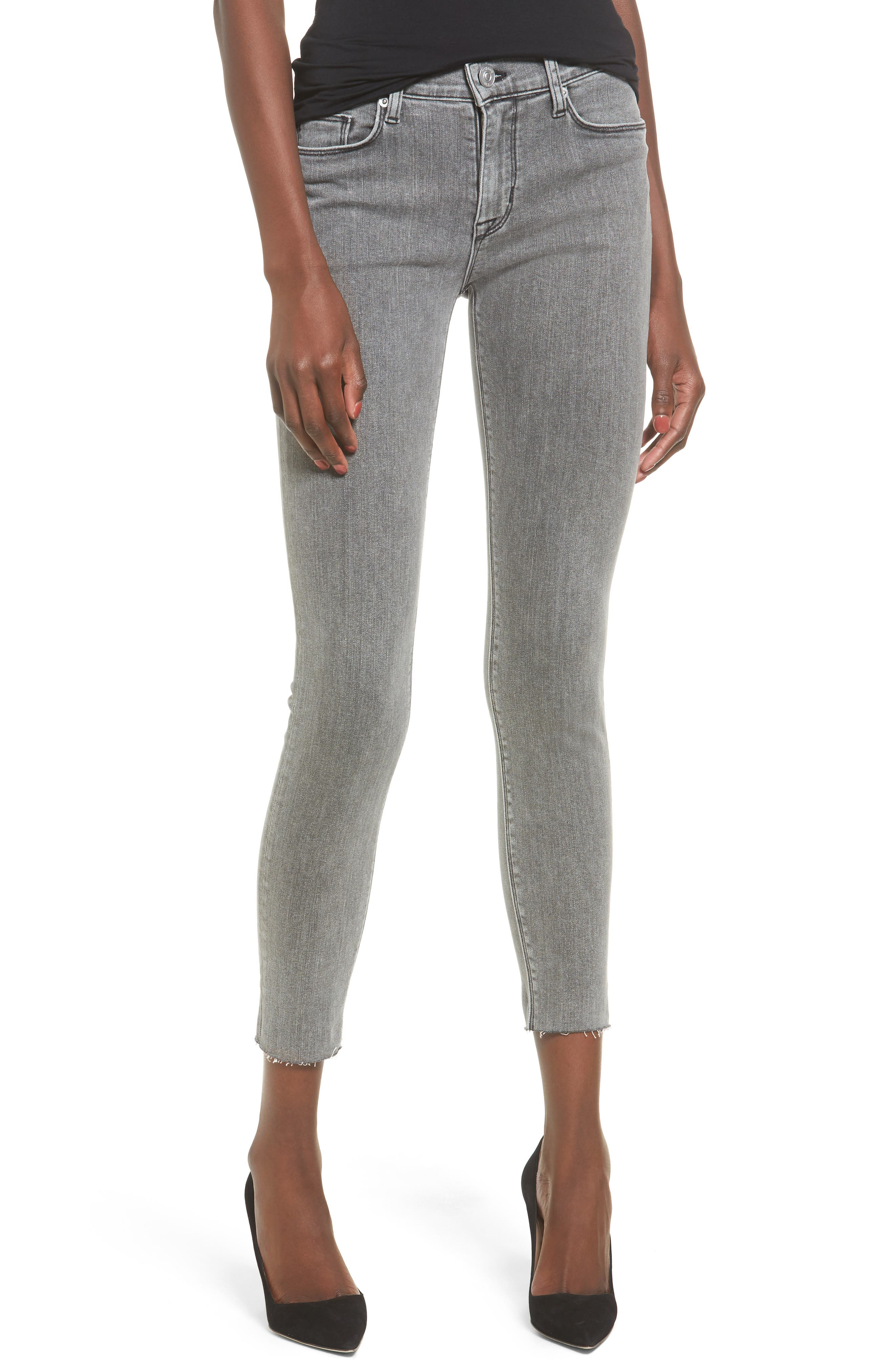 Main Image - Hudson Nico Ankle Super Skinny Jeans (Glossier)