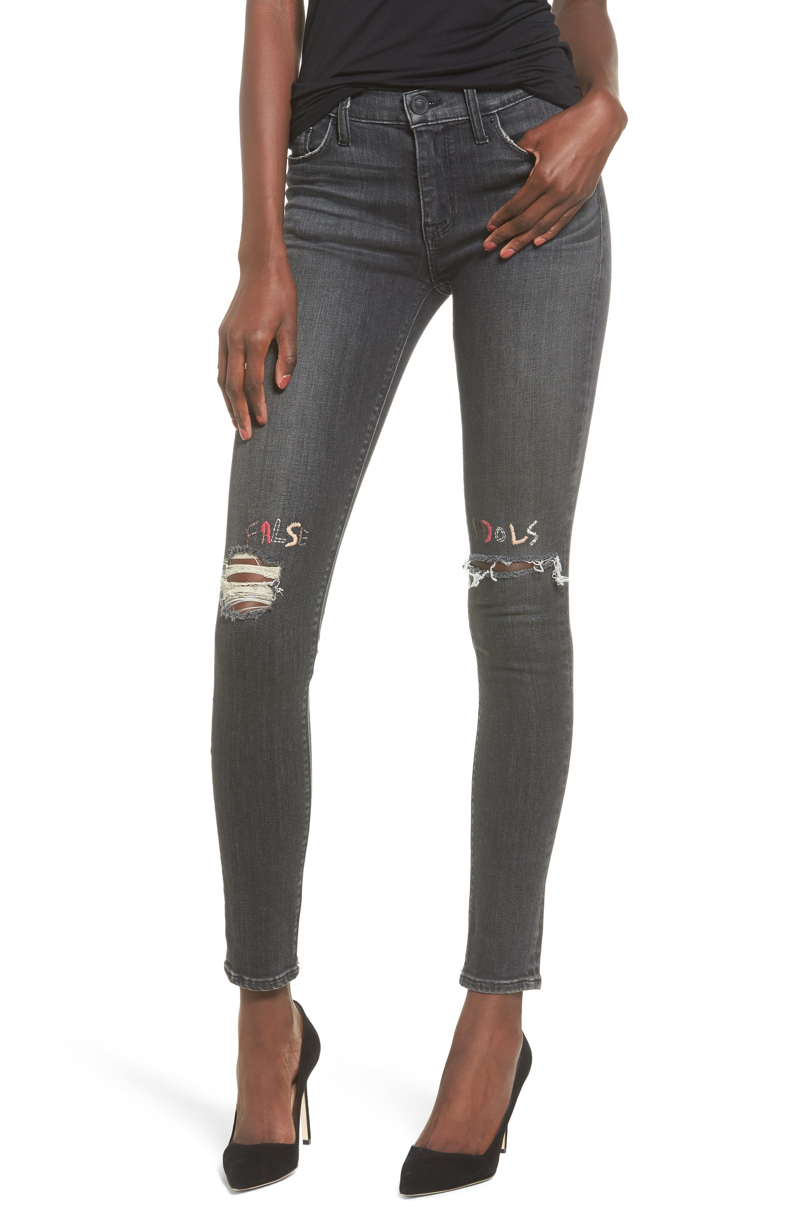 Nico Ripped Super Skinny Jeans,                         Main,                         color, False Idols