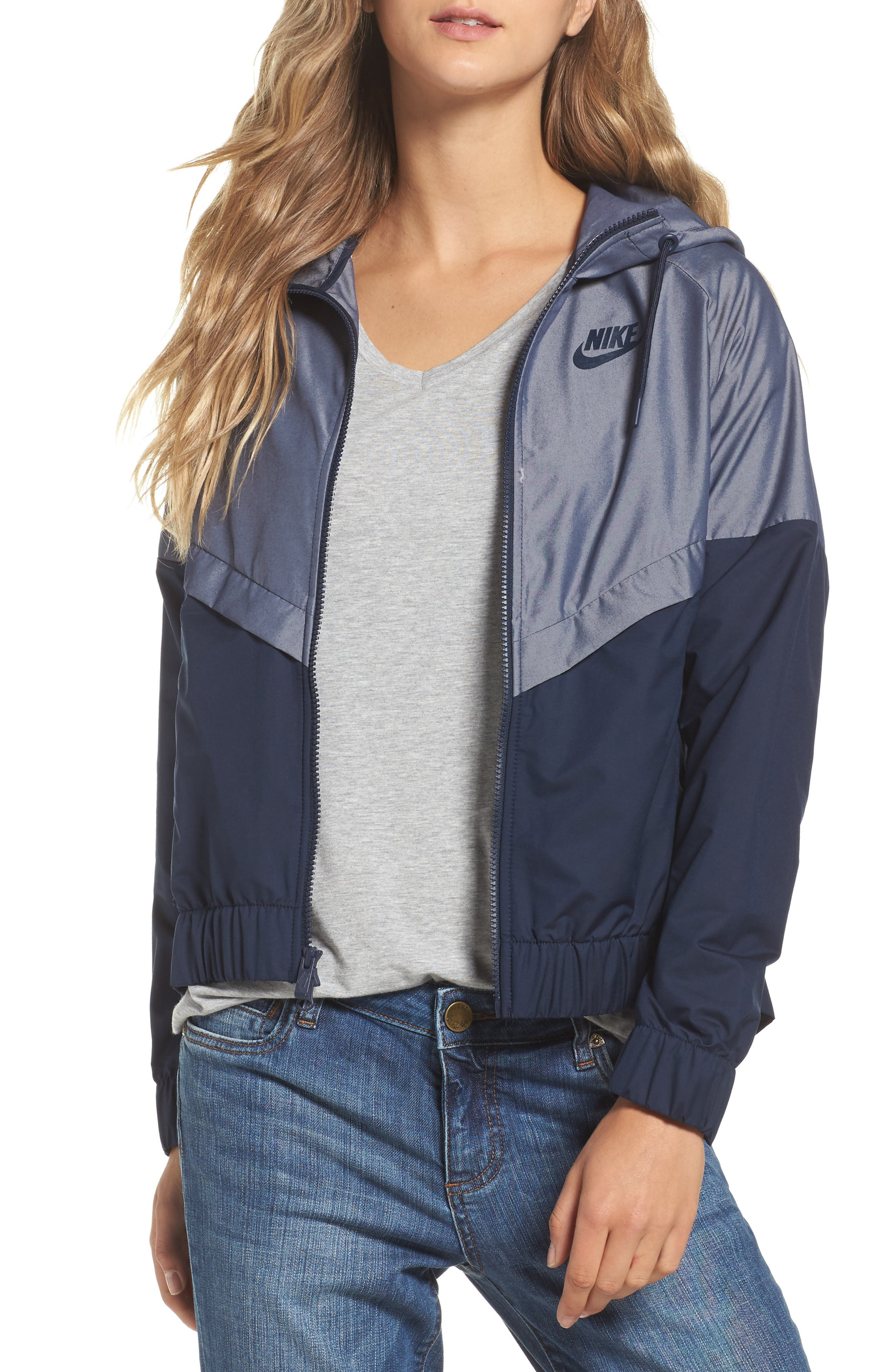 Nike Chambray Drawstring Jacket