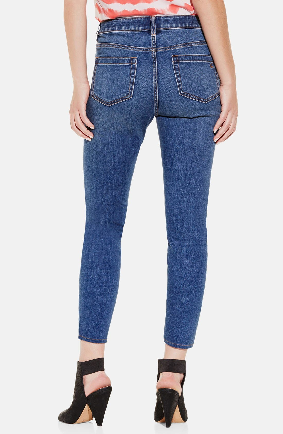 Alternate Image 2  - Two by Vince Camuto Five-Pocket Stretch Skinny Jeans (Authentic)