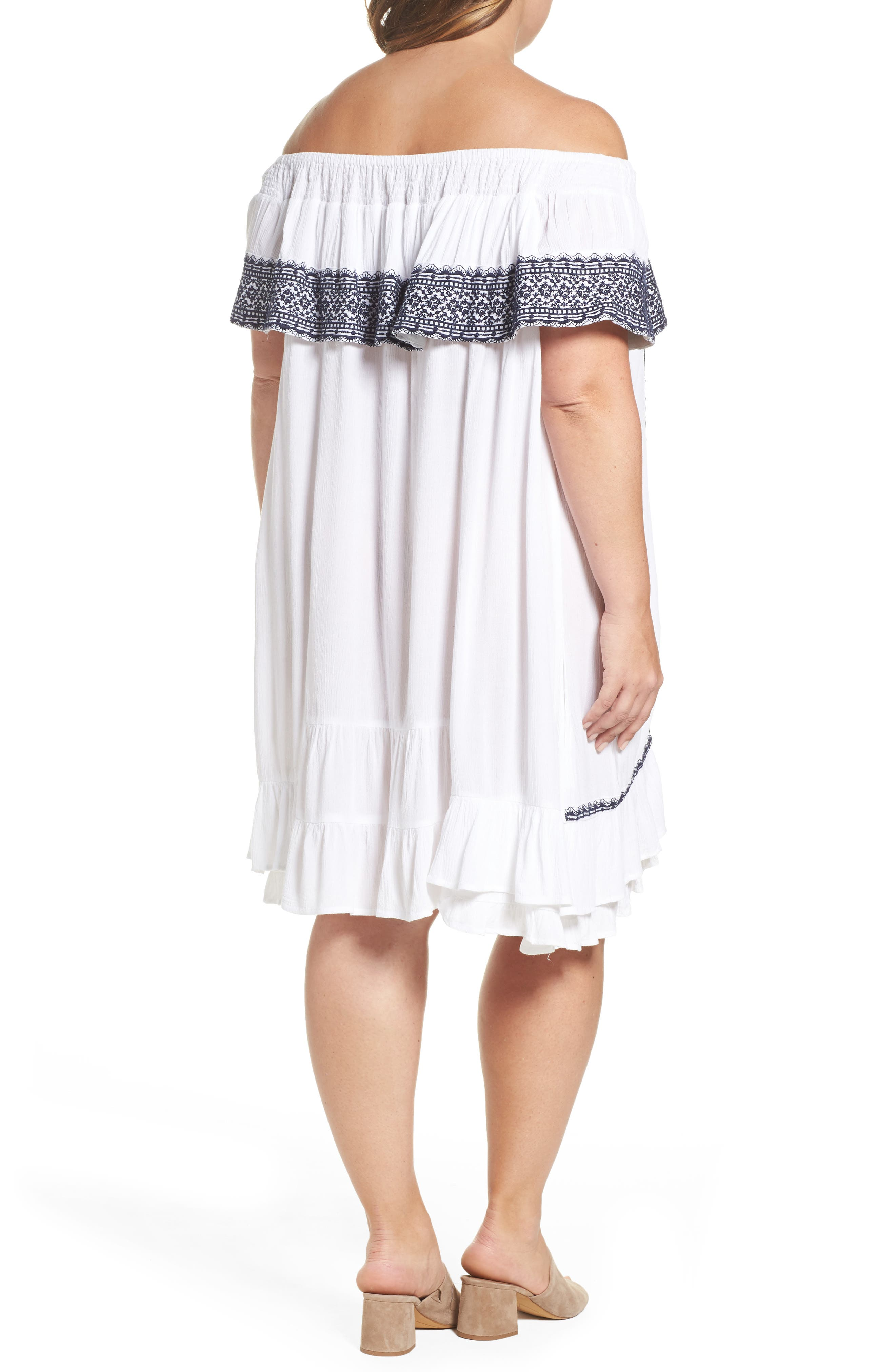 Alternate Image 2  - Muche et Muchette Gavin Ruffle Cover-Up Dress (Plus Size)