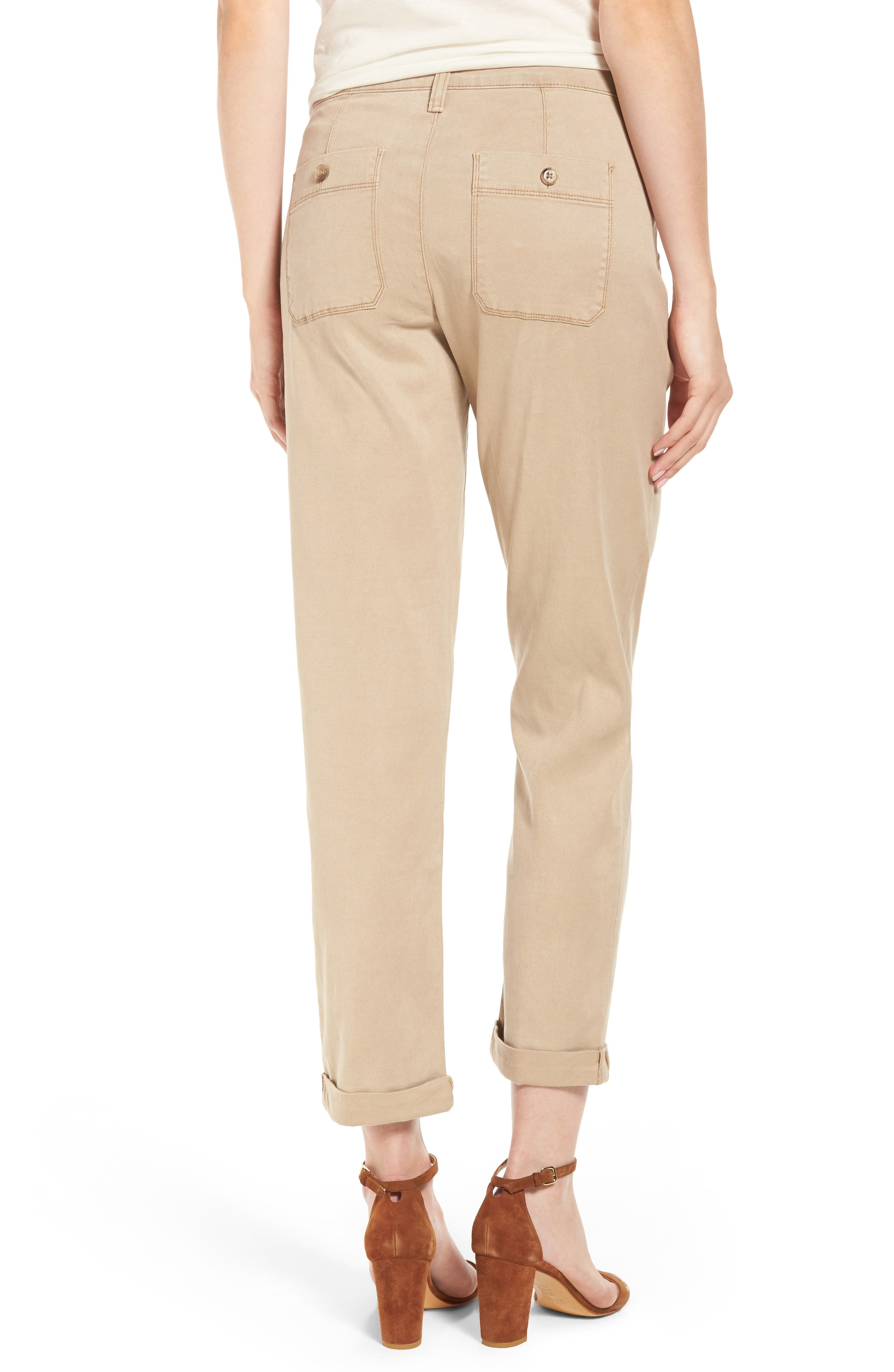 Reese Relaxed Chino Pants,                             Alternate thumbnail 2, color,                             Quicksand