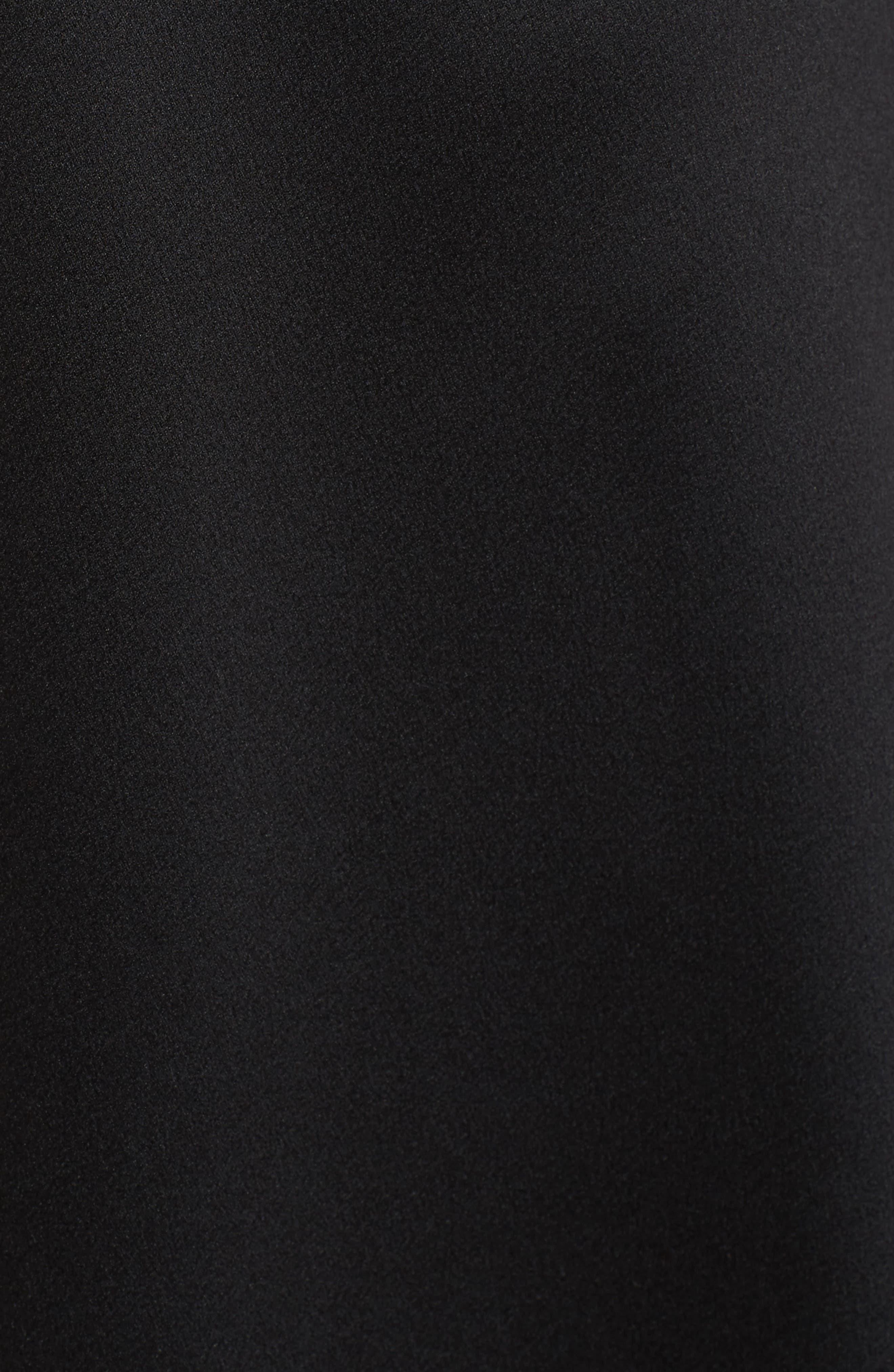 Brandi Fit & Flare Dress,                             Alternate thumbnail 5, color,                             Black